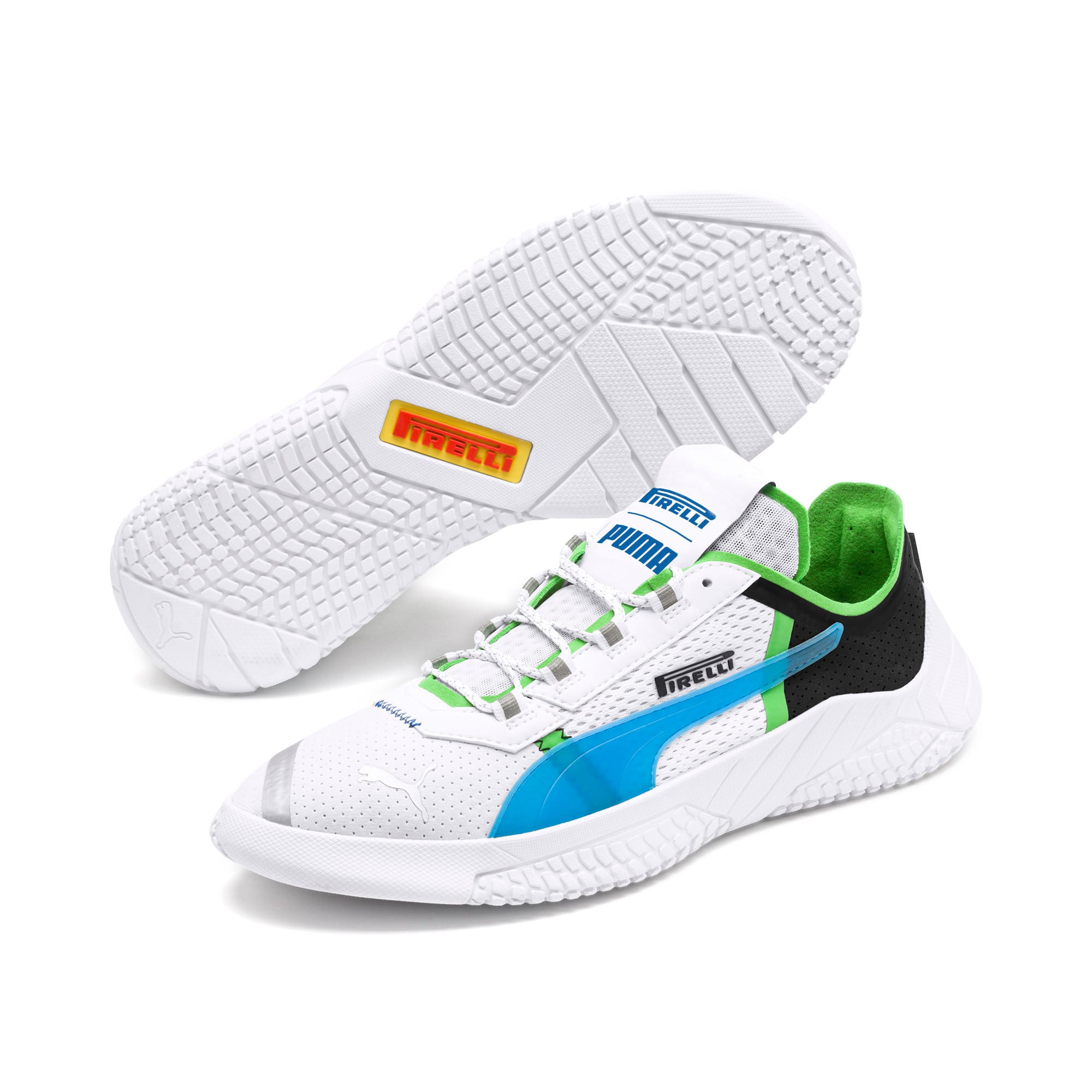 Thumbnail 3 of Pirelli Replicat-X Trainers, White-Black-Classic Green, medium