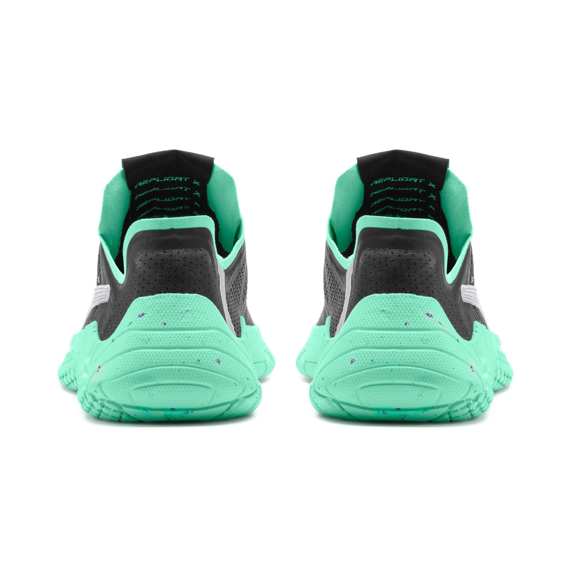 Thumbnail 3 of Replicat-X Fluro Sneaker, Black-Green Glimmer-Silver, medium