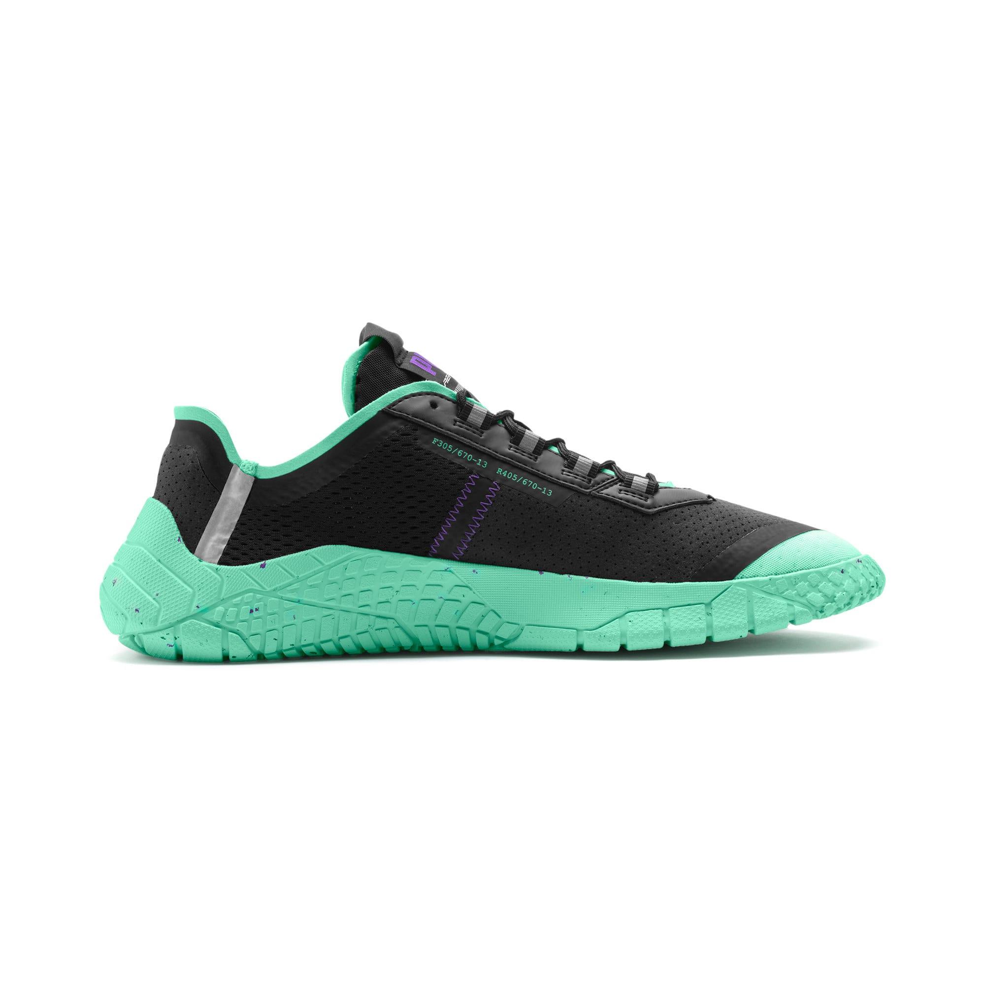 Thumbnail 5 of Replicat-X Fluro Sneaker, Black-Green Glimmer-Silver, medium