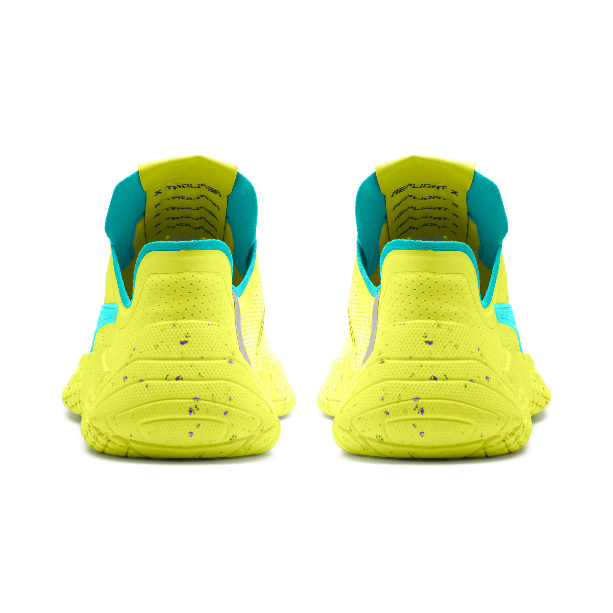 Thumbnail 3 of Replicat-X Fluro Trainers, Fzy Ylw-Blu Trqse-Prpl Glmr, medium