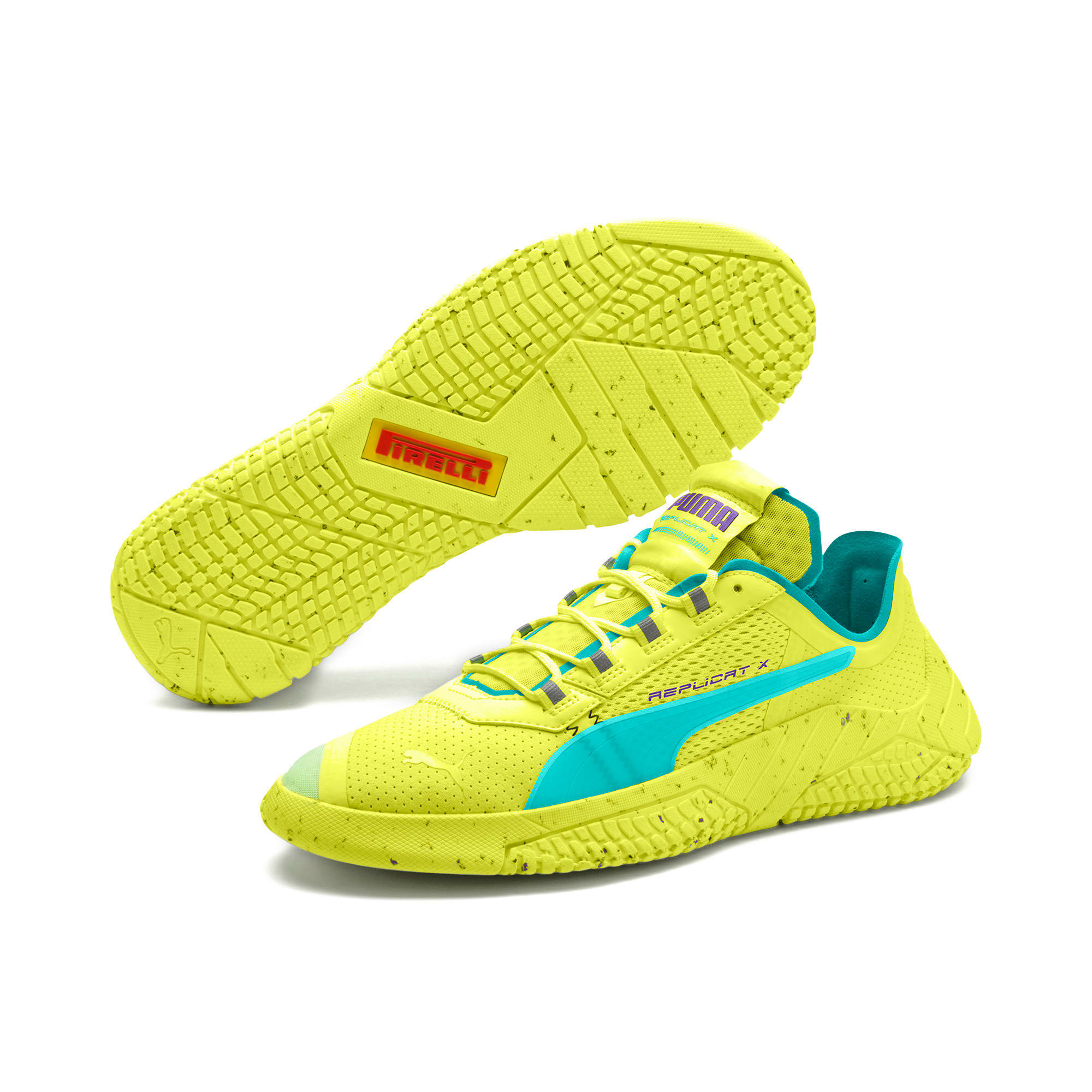 Thumbnail 2 of Replicat-X Fluro Trainers, Fzy Ylw-Blu Trqse-Prpl Glmr, medium