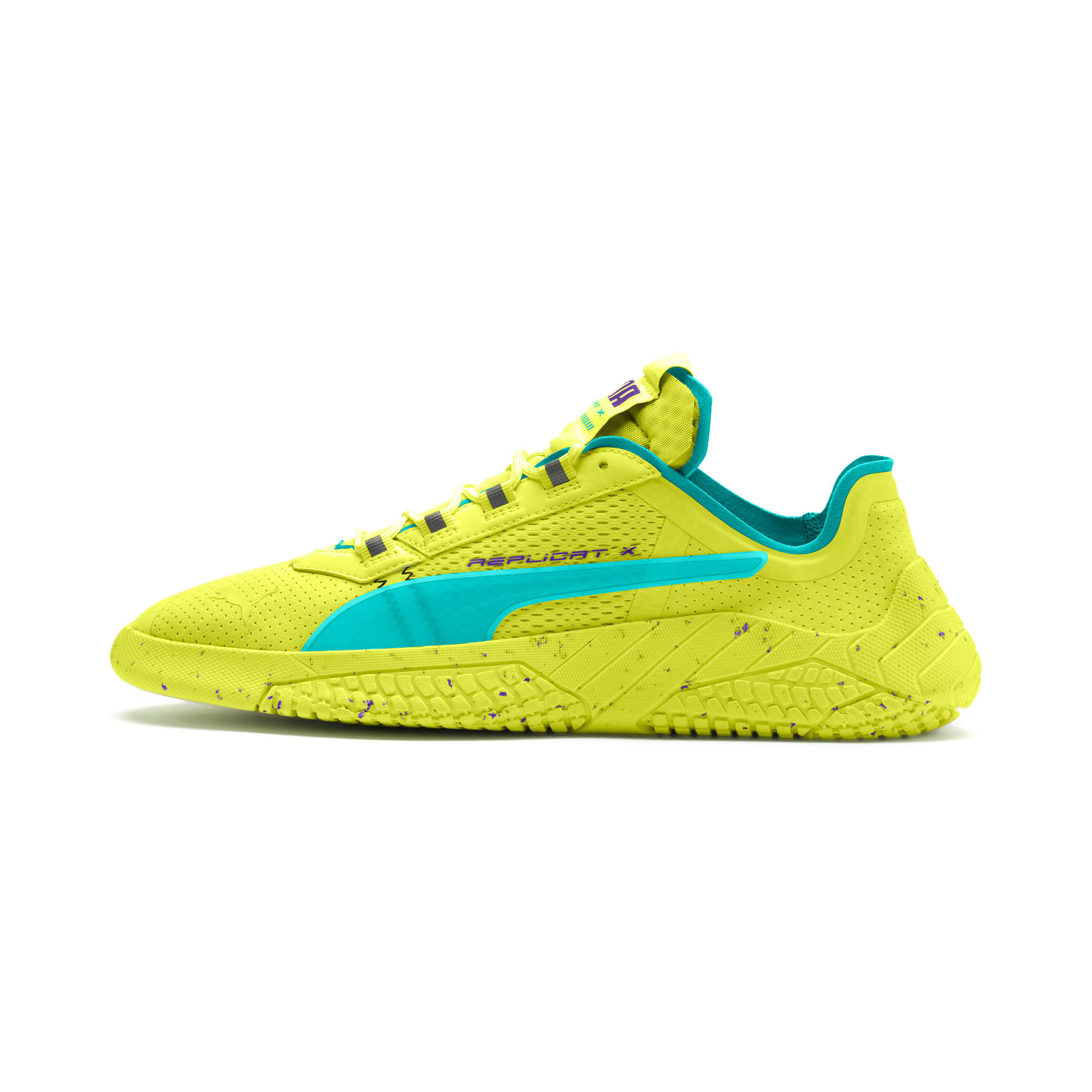 Thumbnail 1 of Replicat-X Fluro Trainers, Fzy Ylw-Blu Trqse-Prpl Glmr, medium