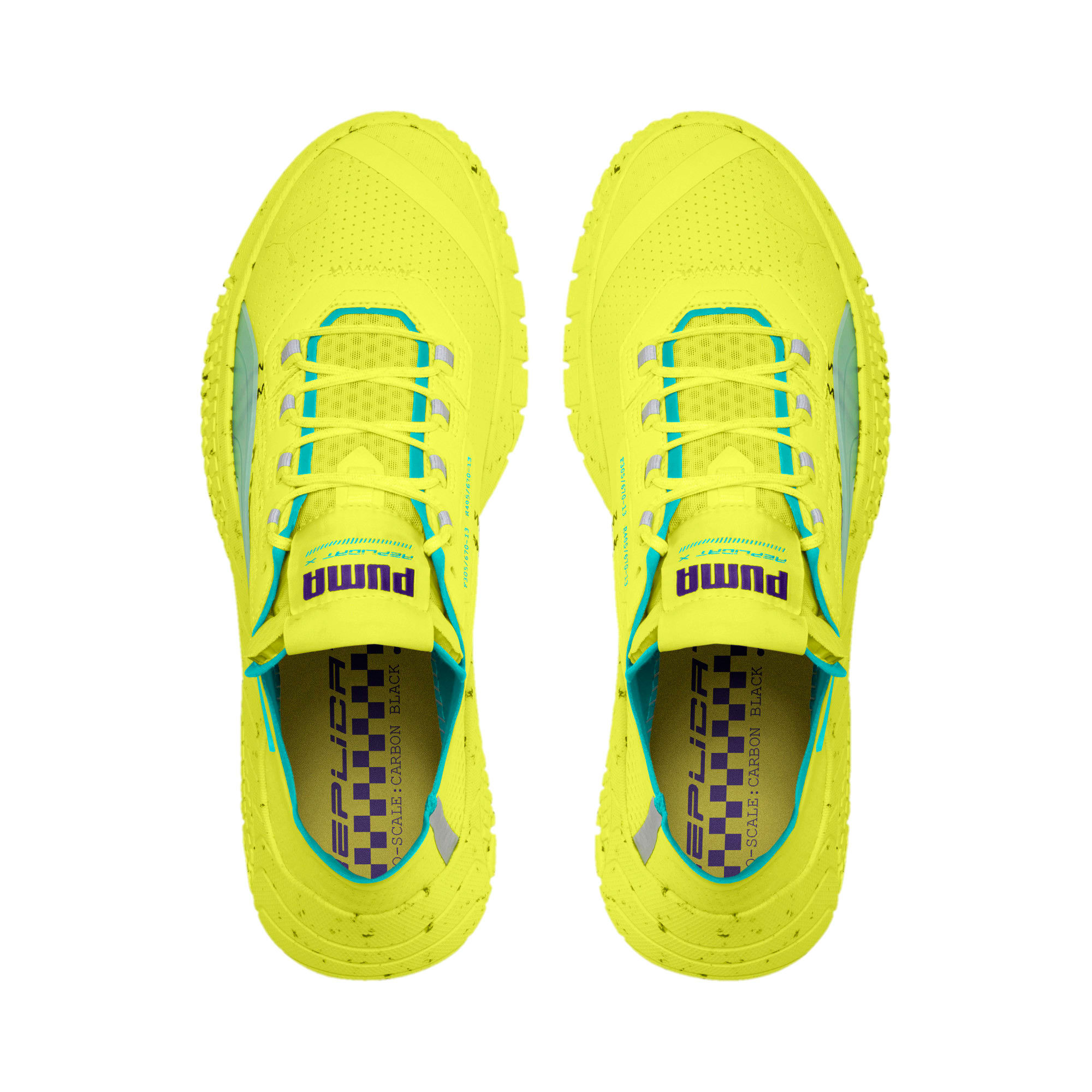 Thumbnail 6 of Replicat-X Fluro Trainers, Fzy Ylw-Blu Trqse-Prpl Glmr, medium