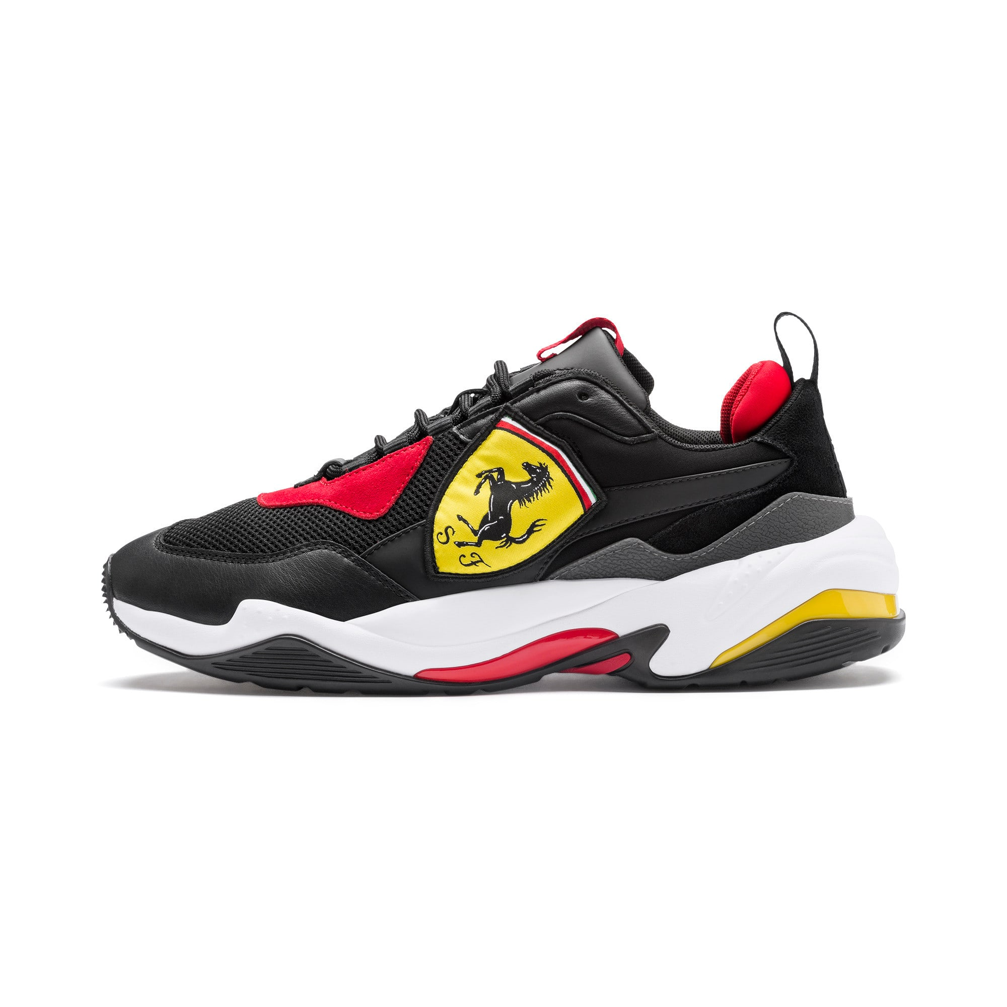 Thumbnail 1 of Ferrari Thunder Trainers, Puma Black-Rosso Corsa, medium