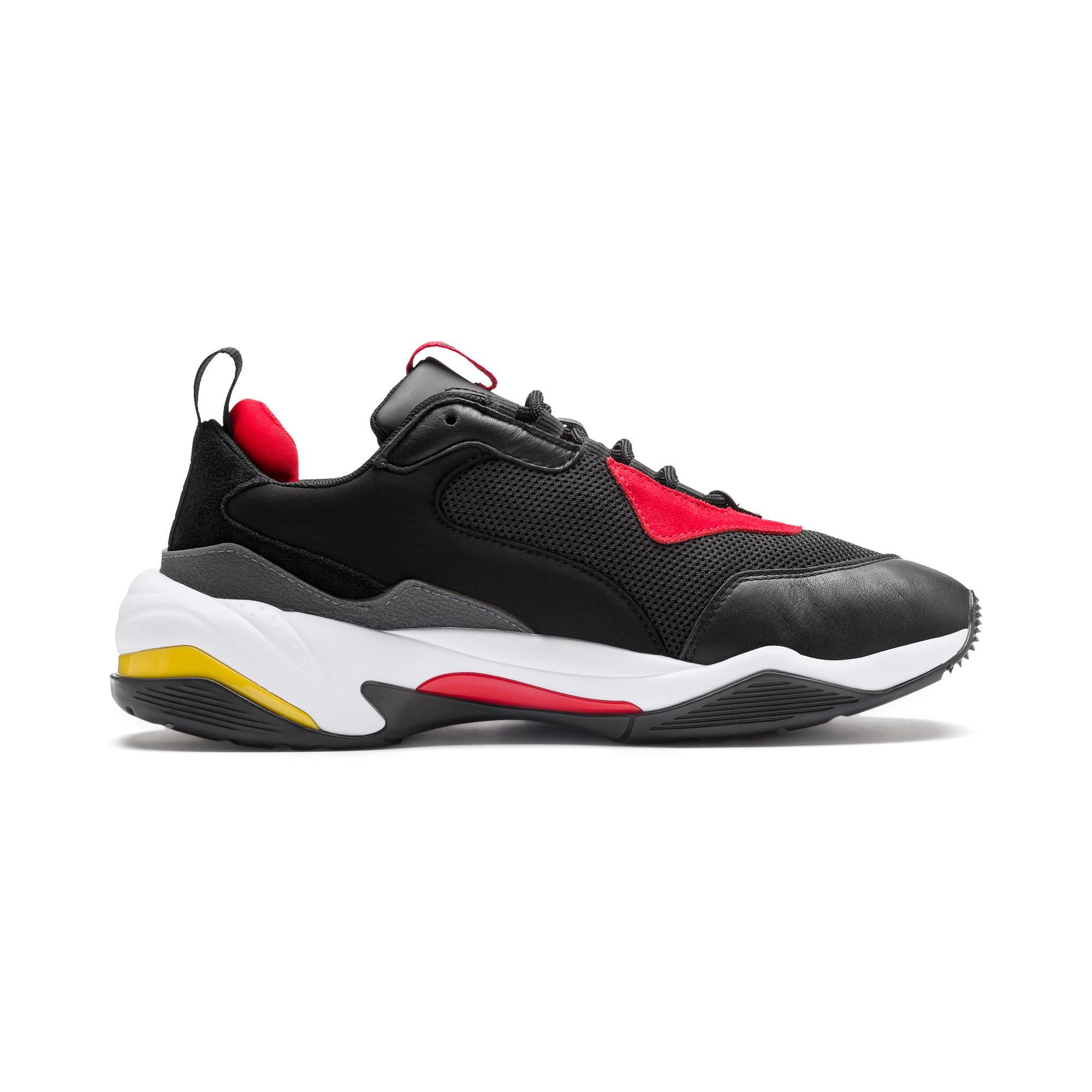 Thumbnail 5 of Ferrari Thunder Trainers, Puma Black-Rosso Corsa, medium