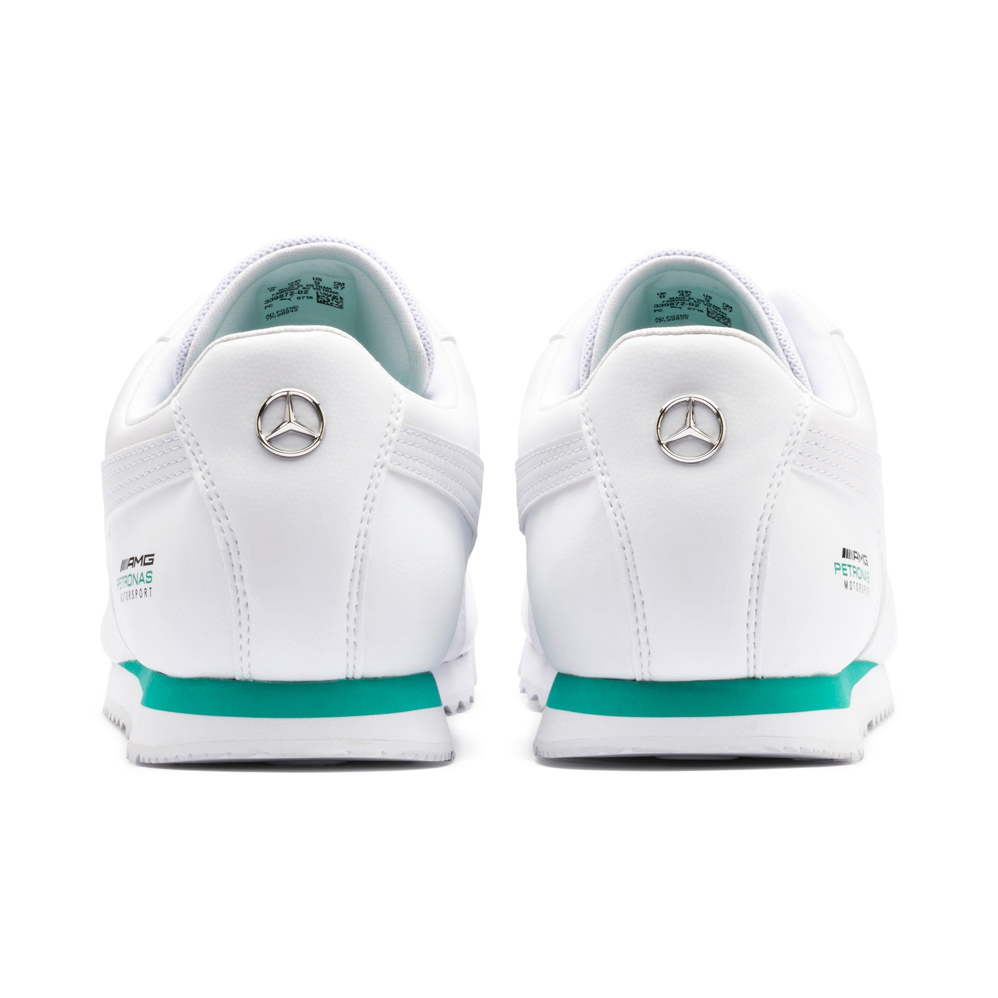 Thumbnail 4 of Mercedes AMG Petronas Roma Men's Sneakers, Puma White-Puma White, medium