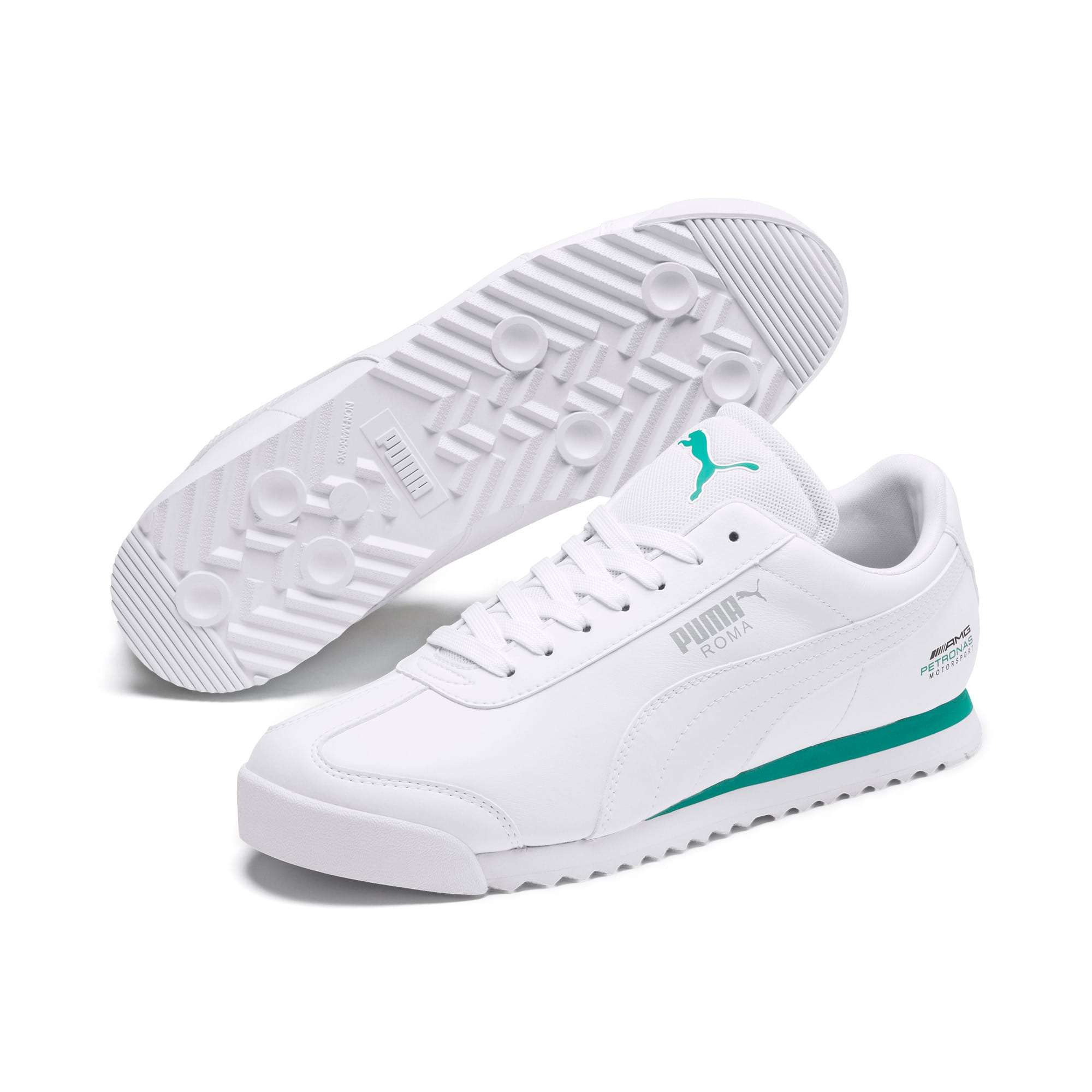 Thumbnail 3 of Mercedes AMG Petronas Roma Men's Sneakers, Puma White-Puma White, medium