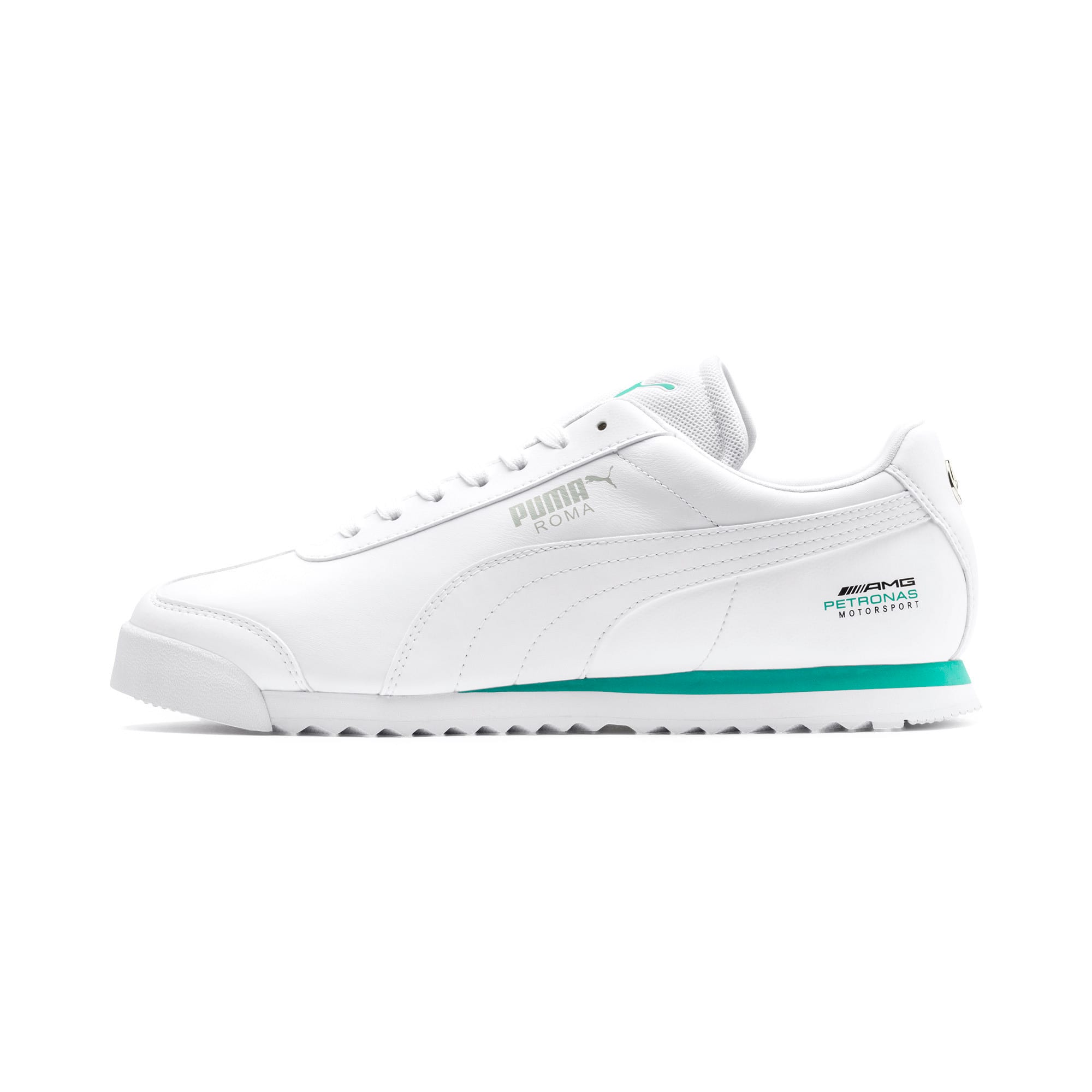 Thumbnail 1 of Mercedes AMG Petronas Roma Men's Sneakers, Puma White-Puma White, medium