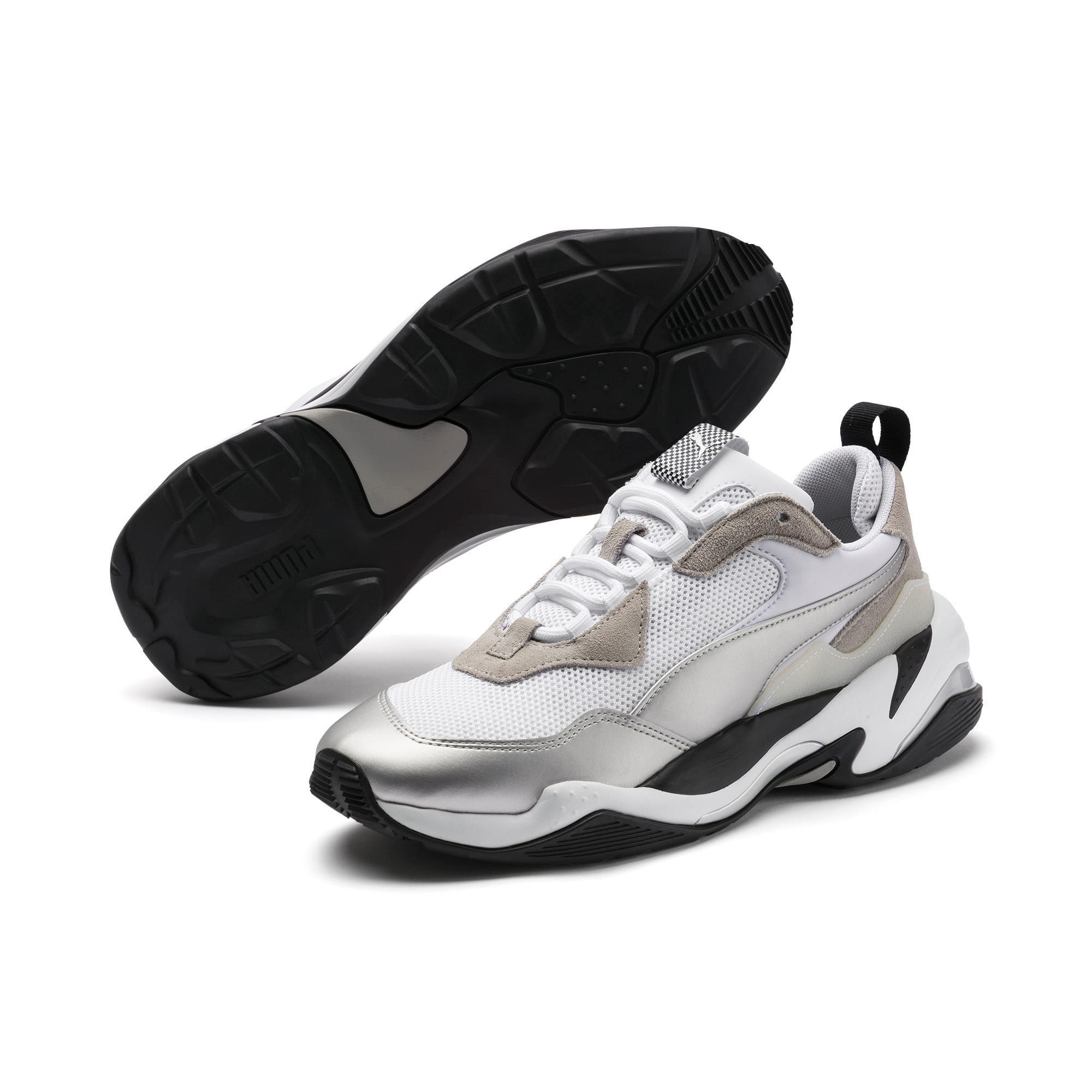 Thumbnail 2 of BMW Thunder Men's Trainers, Puma White-Puma Silver, medium