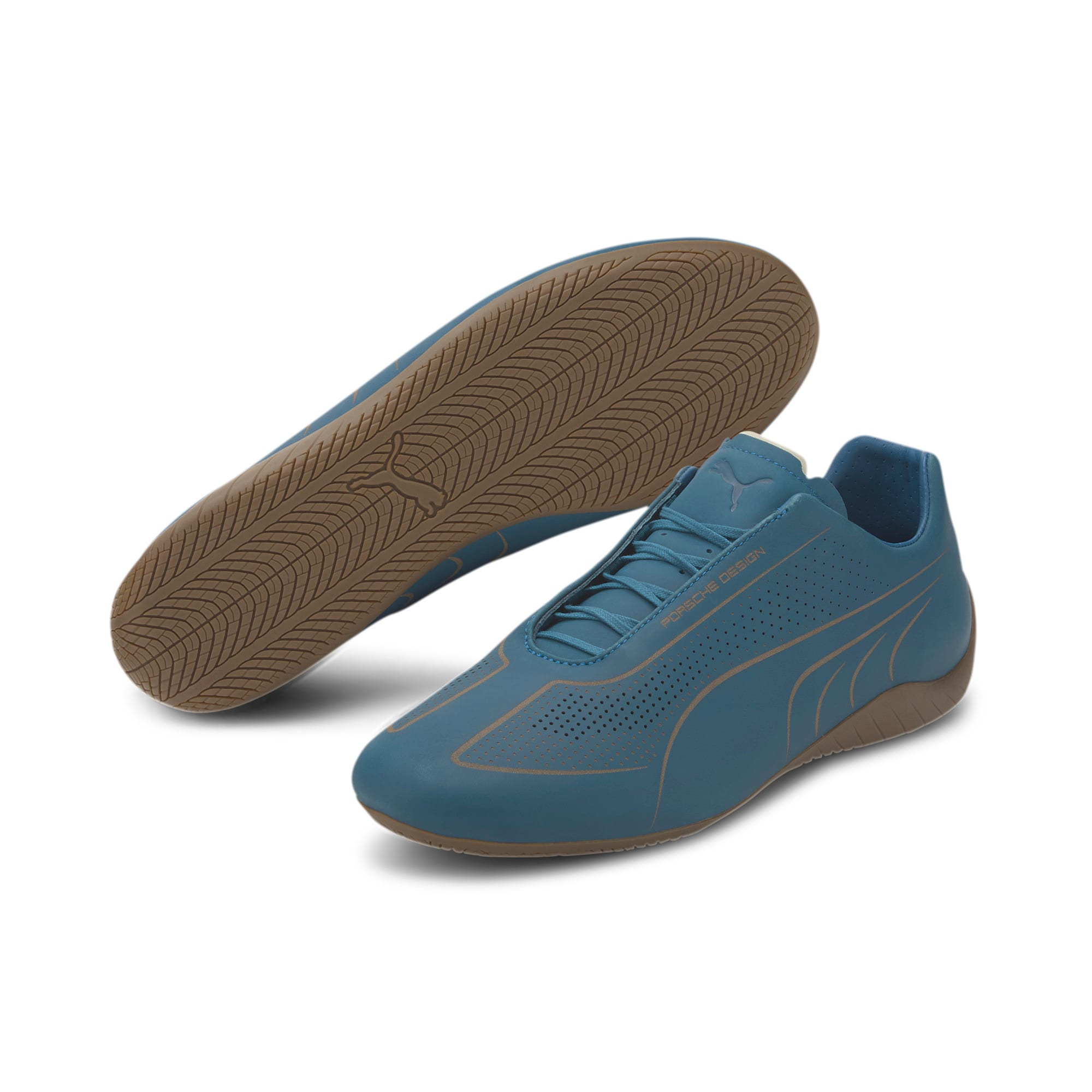 Thumbnail 2 of Porsche Design Speedcat Lux Nubuck Men's Shoes, Moroccan Blue-Moroccan Blue, medium