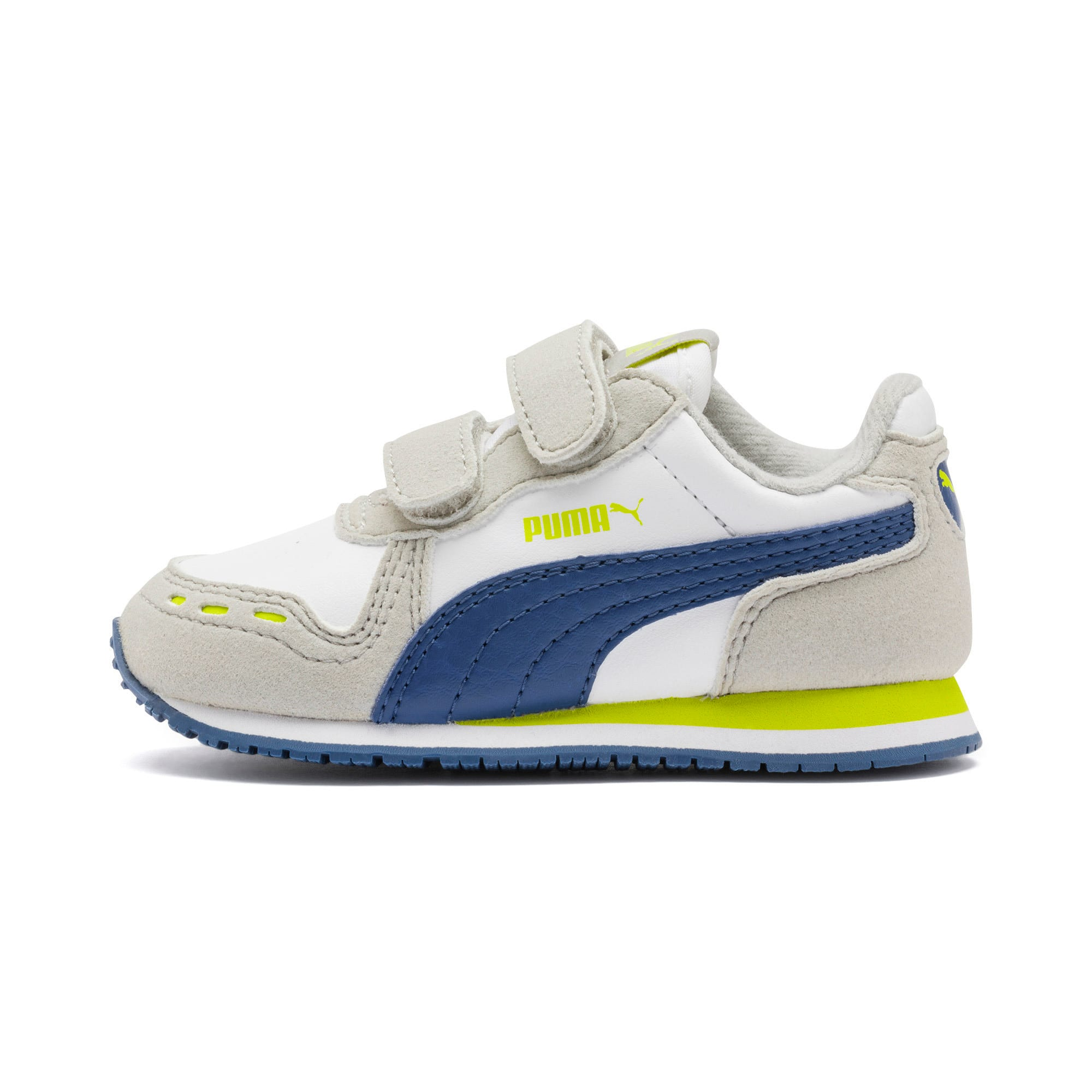 Cabana Racer SL Baby Trainers, Puma White-Galaxy Blue, large