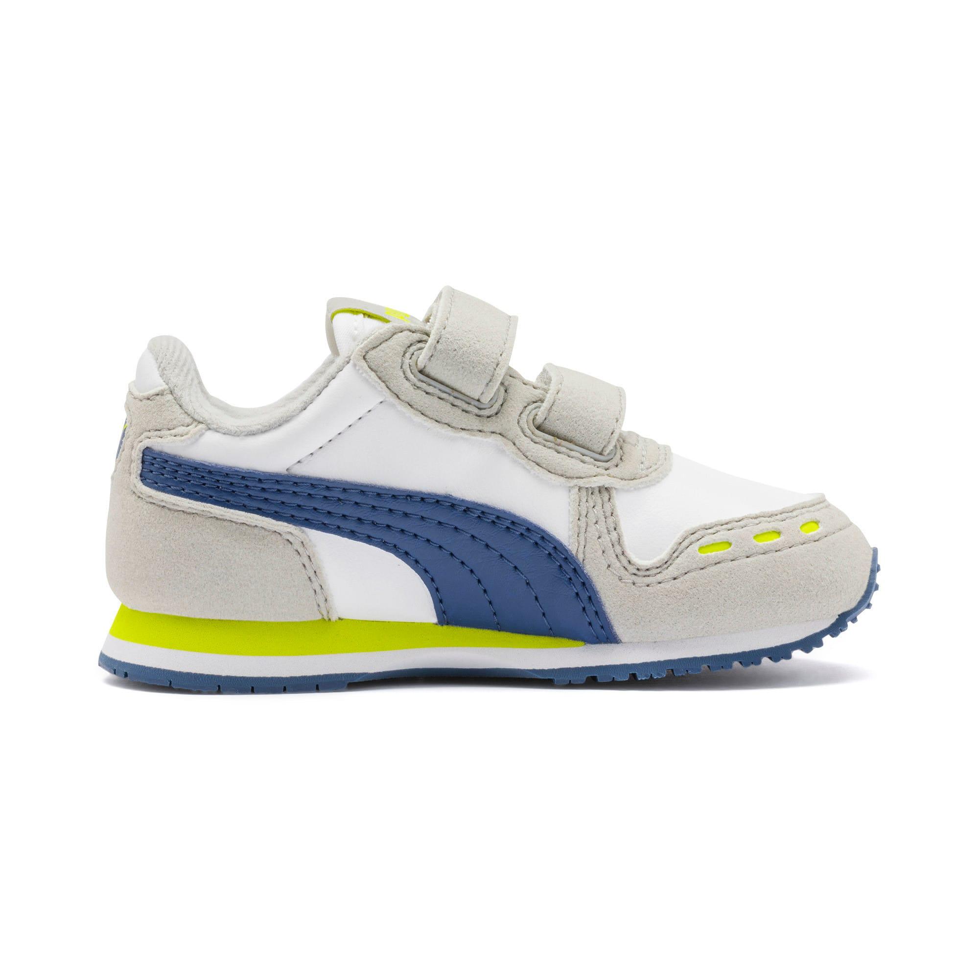 Thumbnail 5 of Cabana Racer SL Toddler Shoes, Puma White-Galaxy Blue, medium
