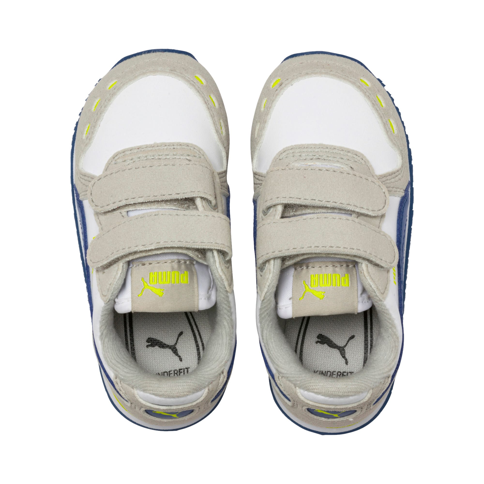 Thumbnail 6 of Cabana Racer SL Toddler Shoes, Puma White-Galaxy Blue, medium