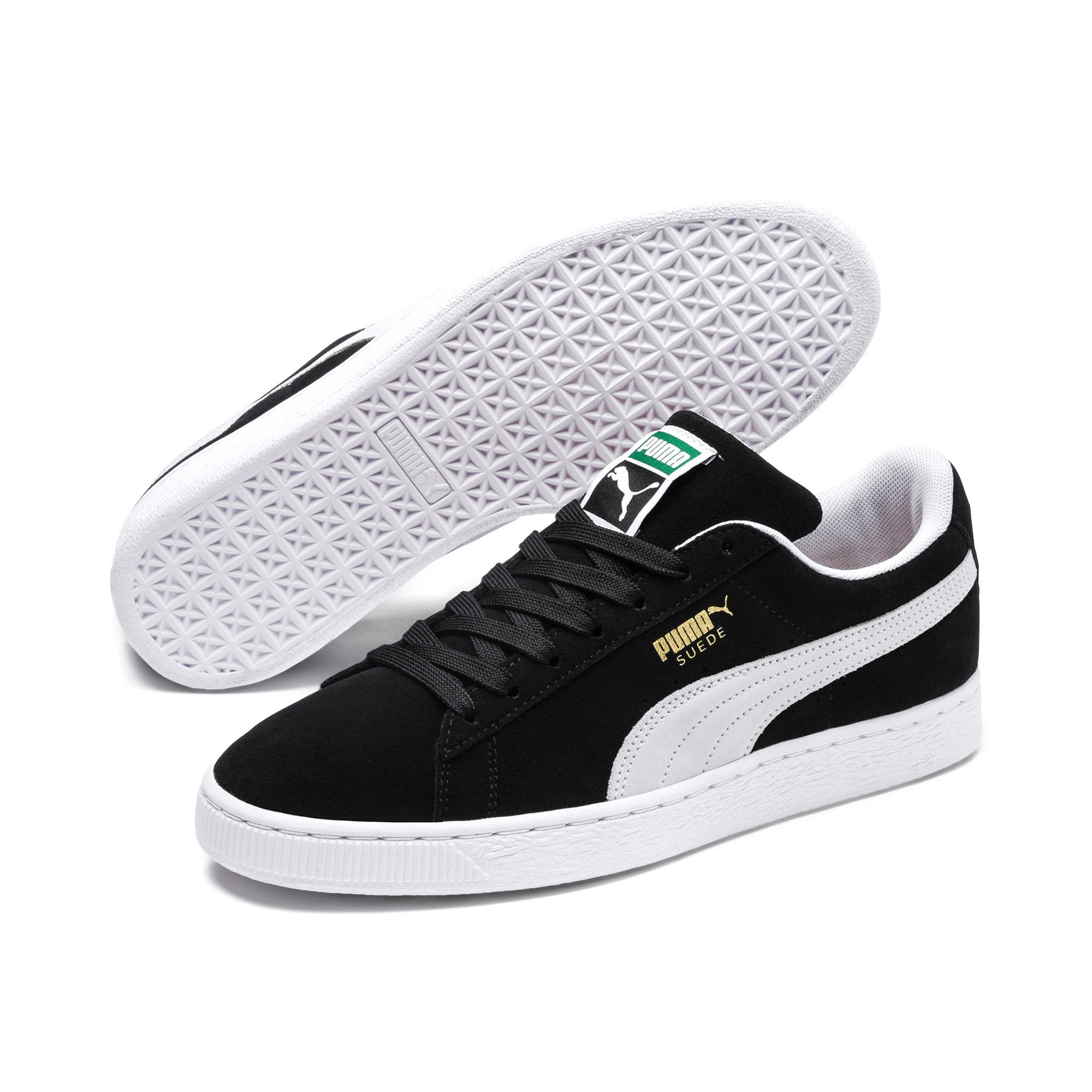 Thumbnail 2 of Suede Classic+ Sneakers, black-white, medium