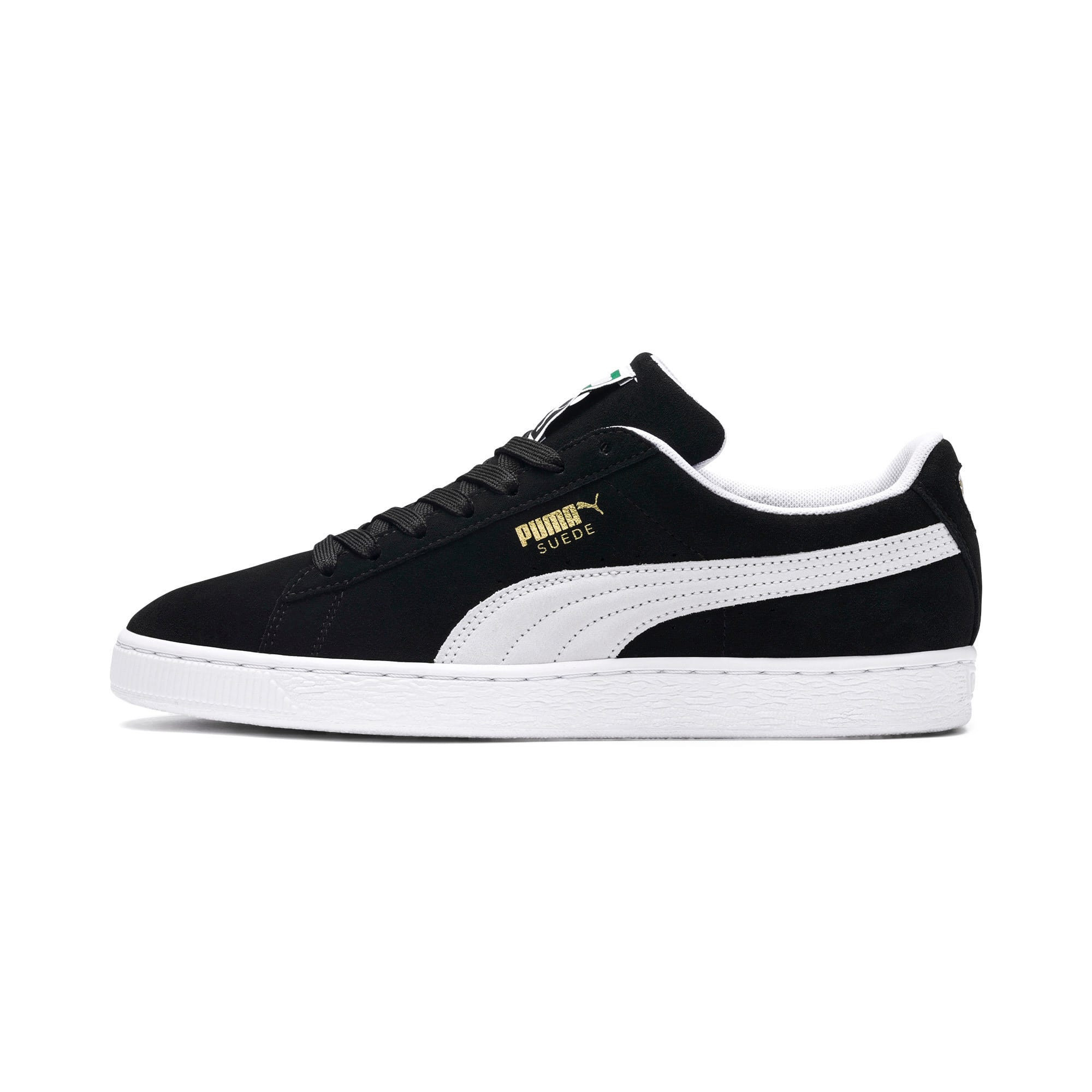 Thumbnail 1 of Suede Classic+ Sneakers, black-white, medium