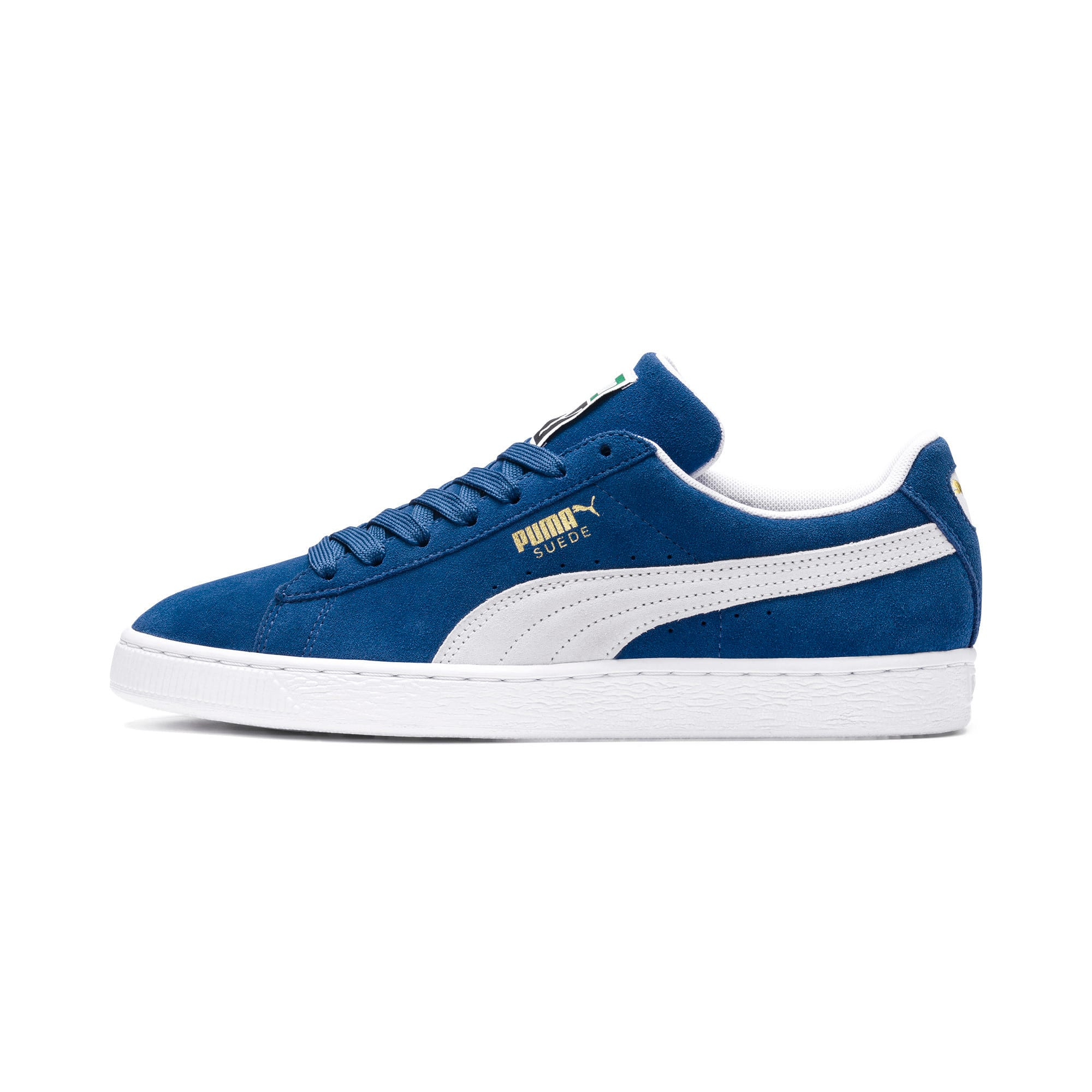 Thumbnail 1 of Suede Classic+ Men's Trainers, olympian blue-white, medium