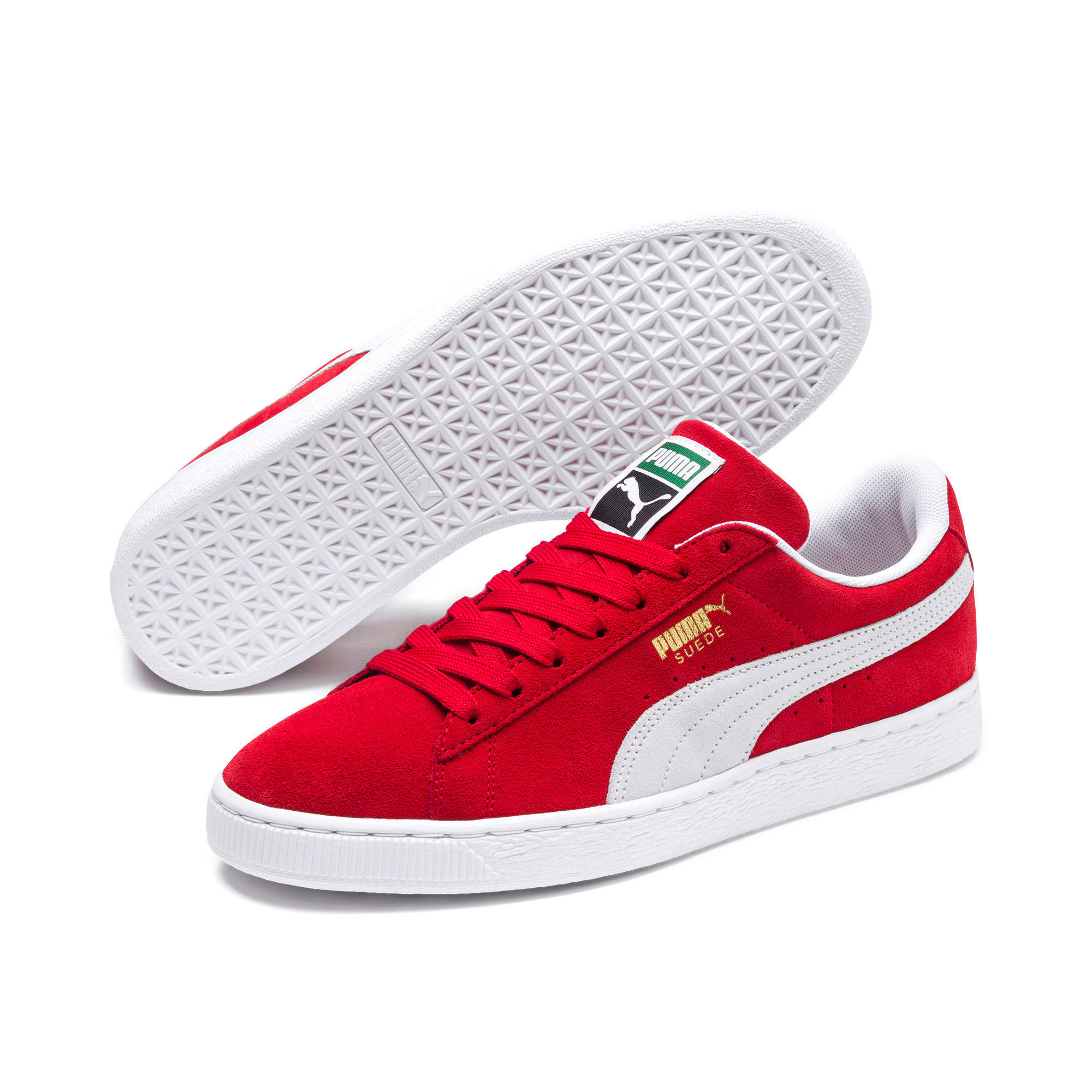 Thumbnail 2 of Suede Classic+ Men's Trainers, high risk red-white, medium
