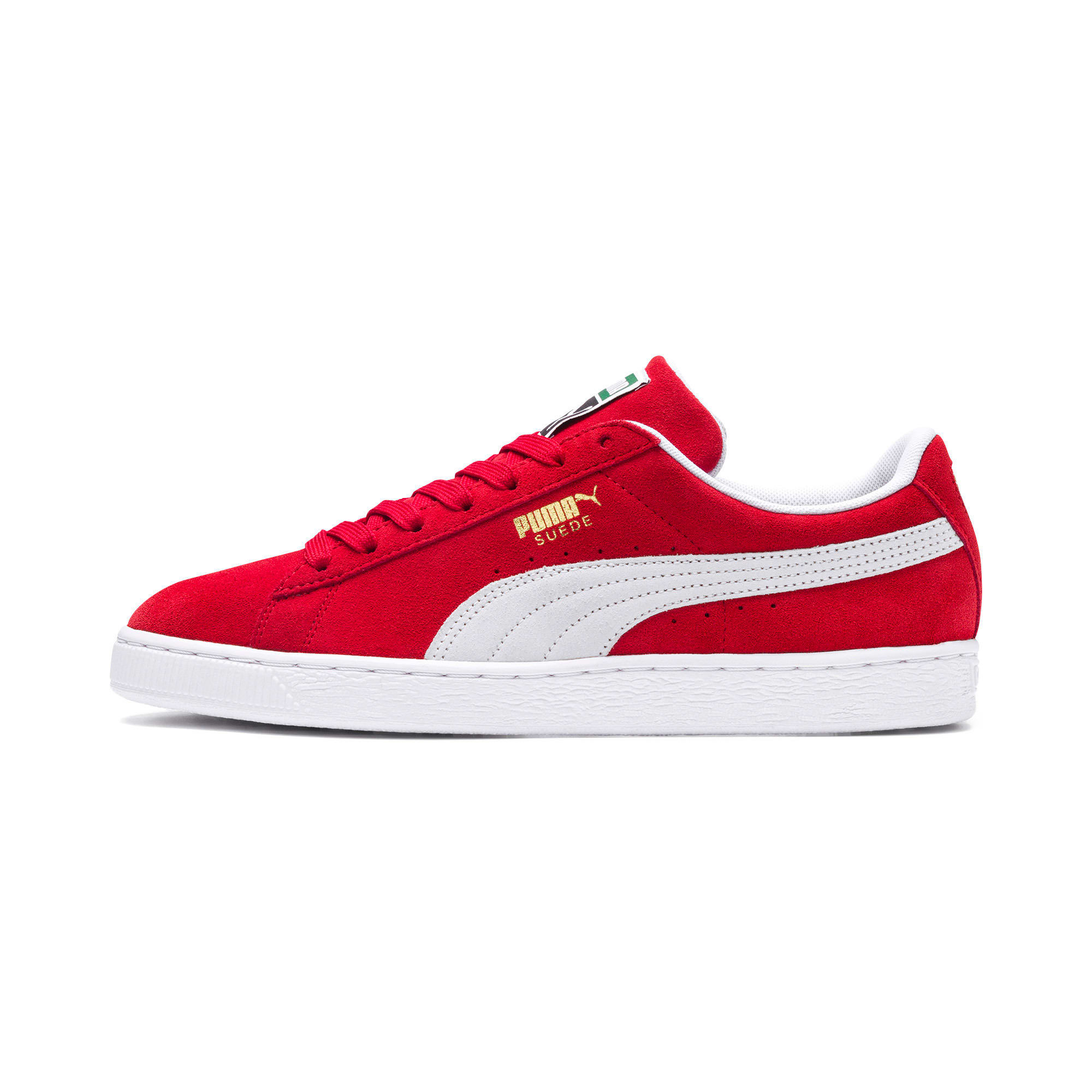 Thumbnail 1 of Suede Classic+ Sneakers, high risk red-white, medium