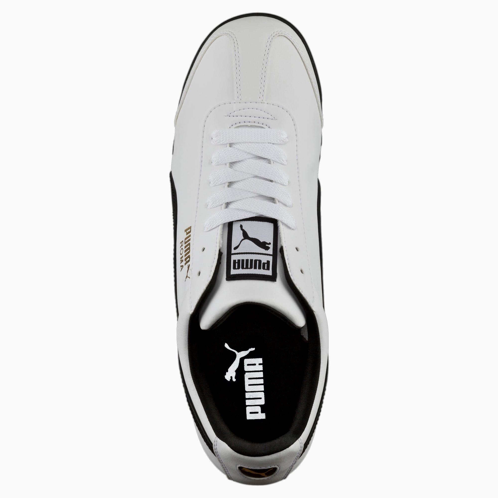 PUMA Roma Basic Shoes Synthetic Black White Classic Men Sneakers 353572 11