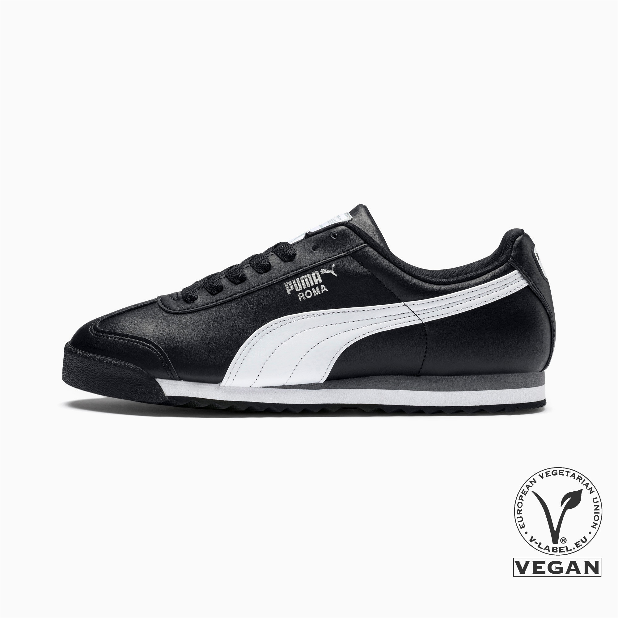 Thumbnail 1 of Roma Basic Men's Sneakers, black-white-puma silver, medium