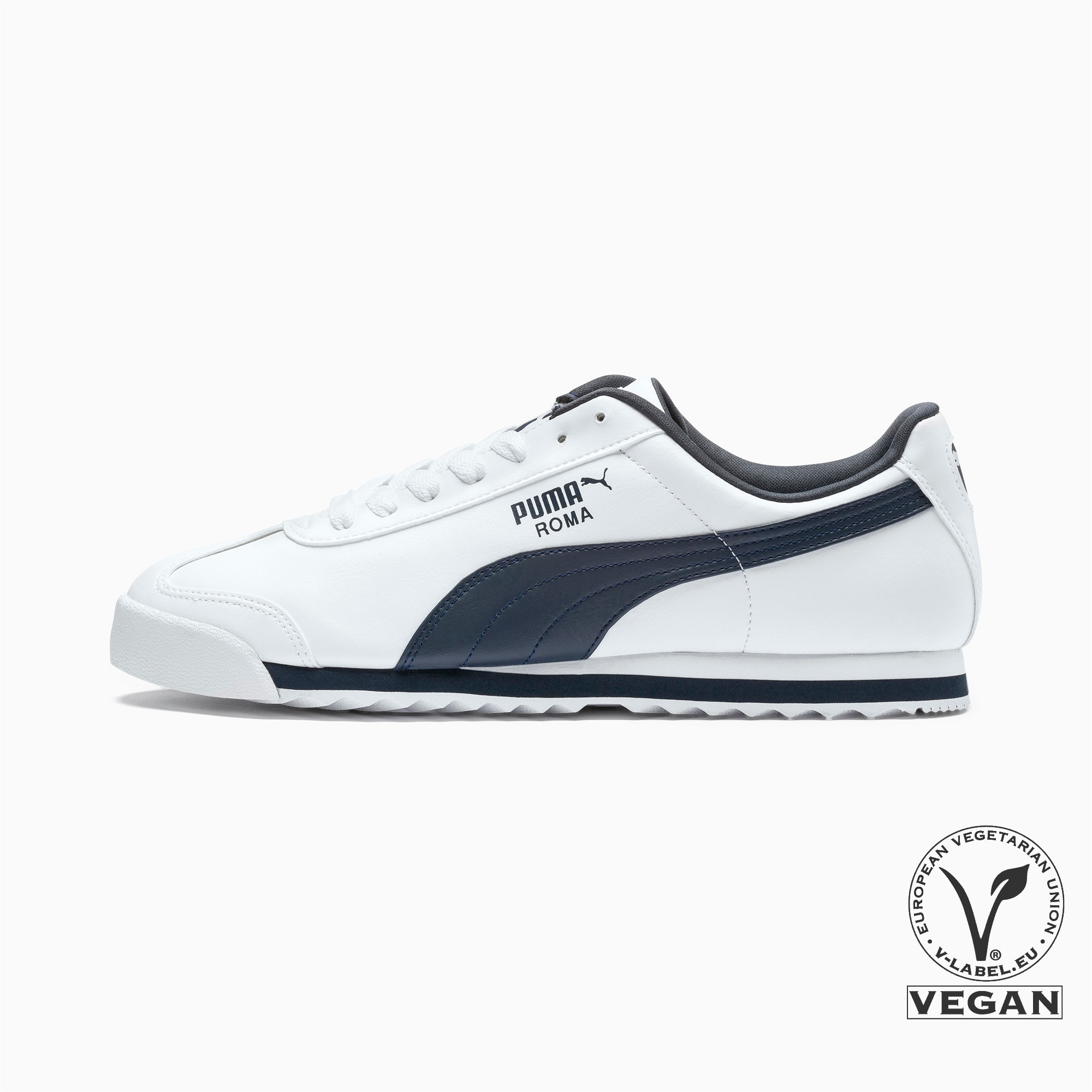 Thumbnail 1 of Roma Basic Men's Sneakers, white-new navy, medium