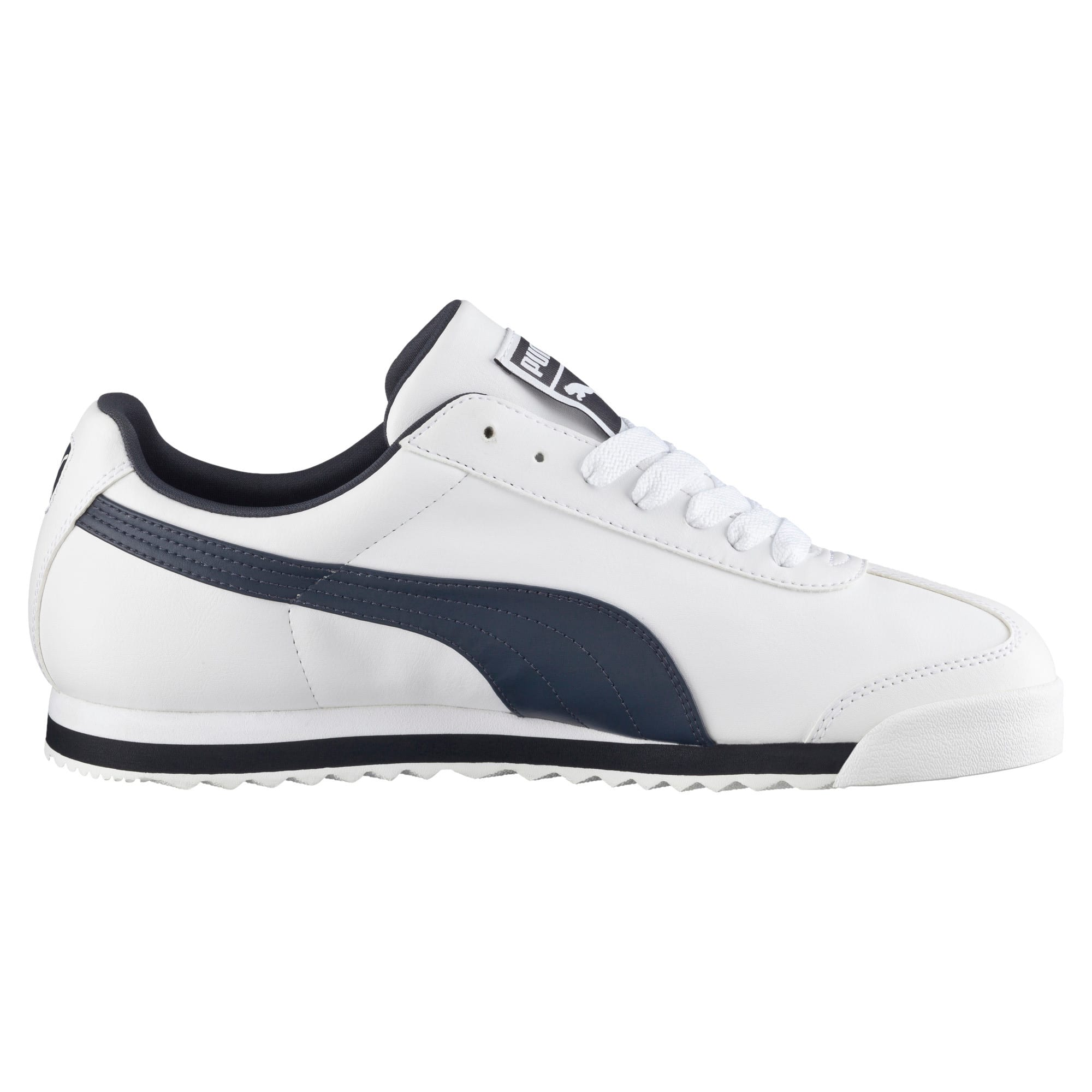 Thumbnail 3 of Roma Basic Men's Sneakers, white-new navy, medium