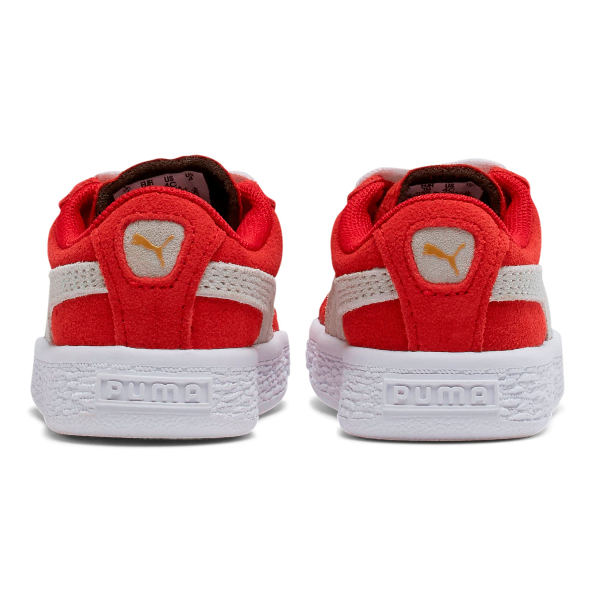 Thumbnail 3 of Puma Suede Toddler Shoes, high risk red-white, medium
