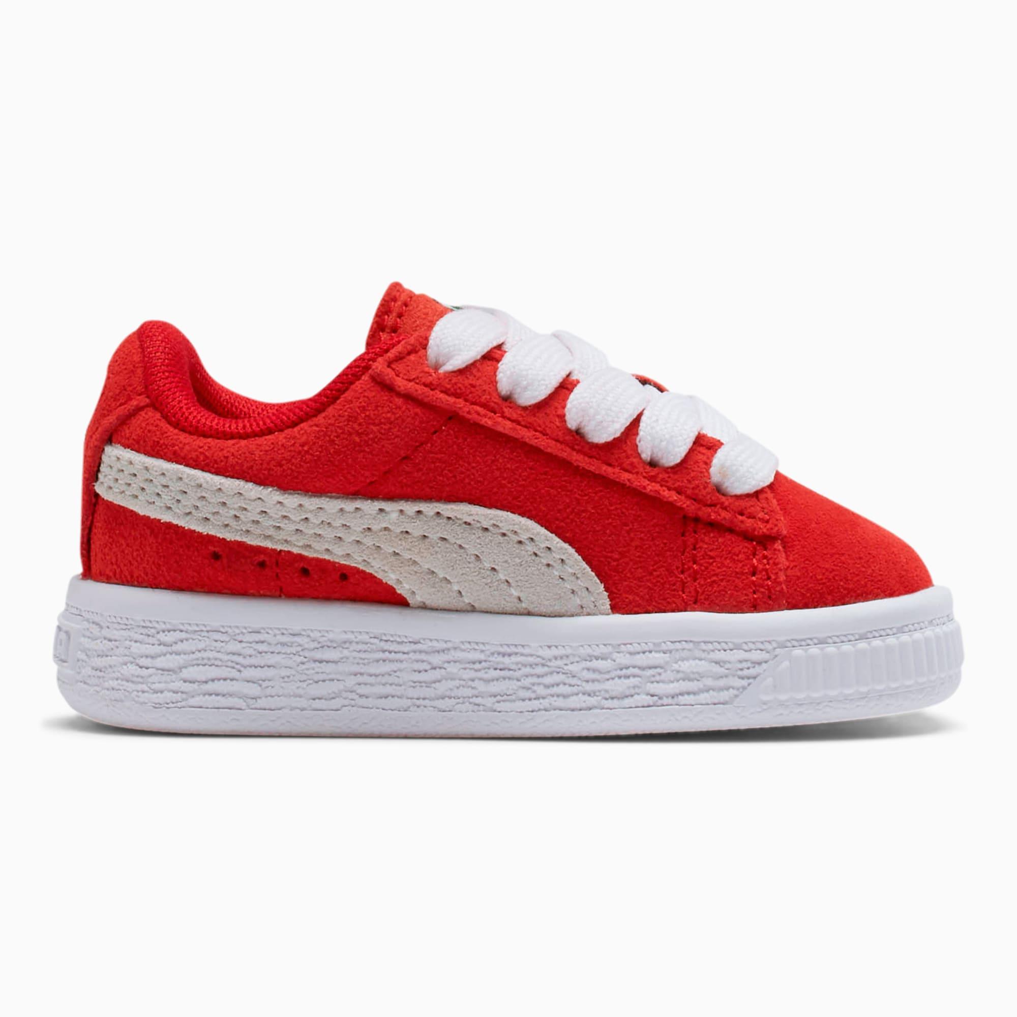 puma suede red white