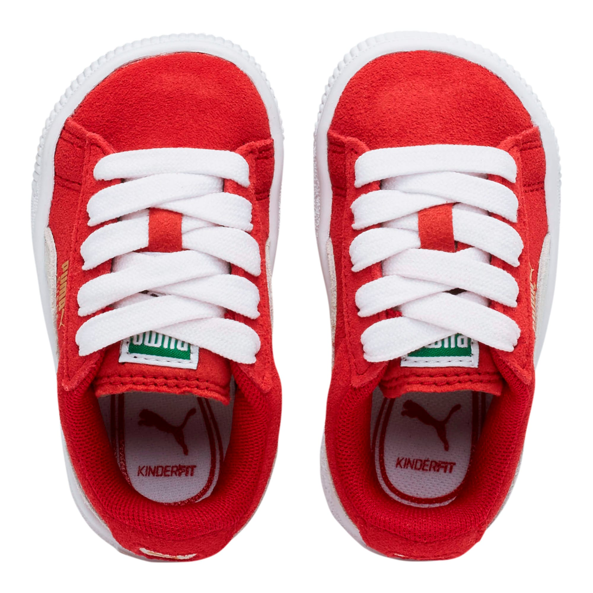 Thumbnail 6 of Puma Suede Toddler Shoes, high risk red-white, medium