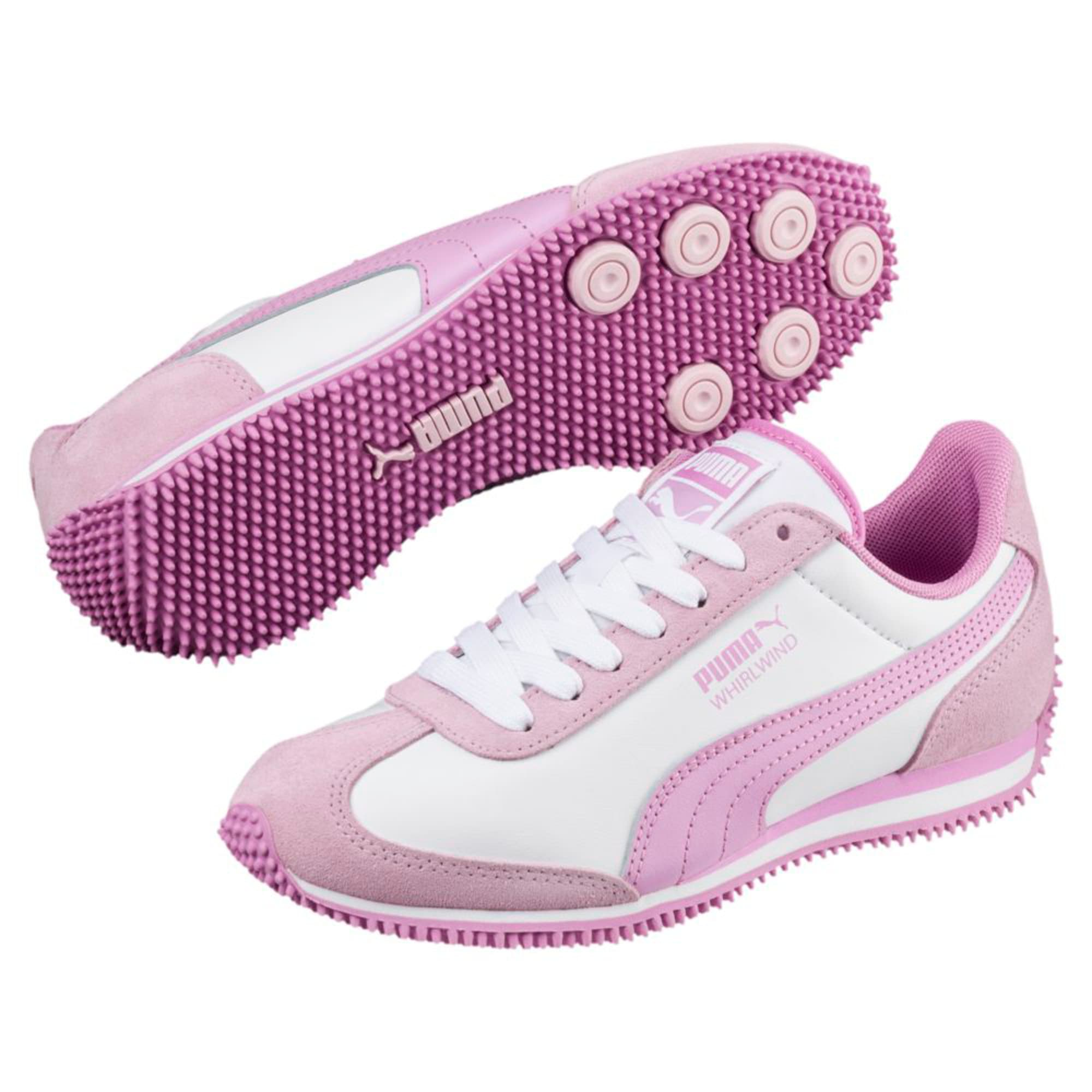 Thumbnail 6 of Kid's Whirlwind Trainers, Puma White-Winsome Orchid, medium-IND