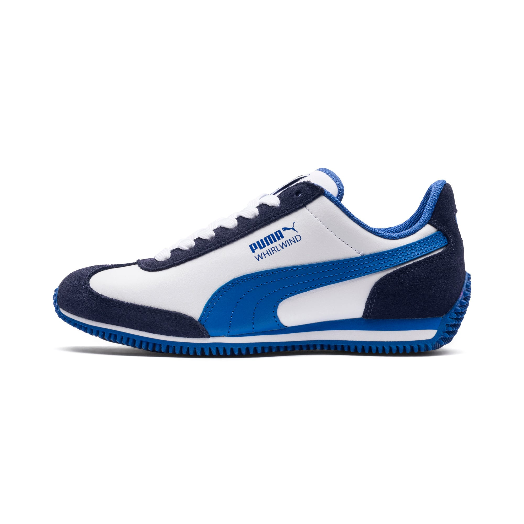 Thumbnail 1 of Kid's Whirlwind Trainers, White-Peacoat-Strong Blue, medium-IND