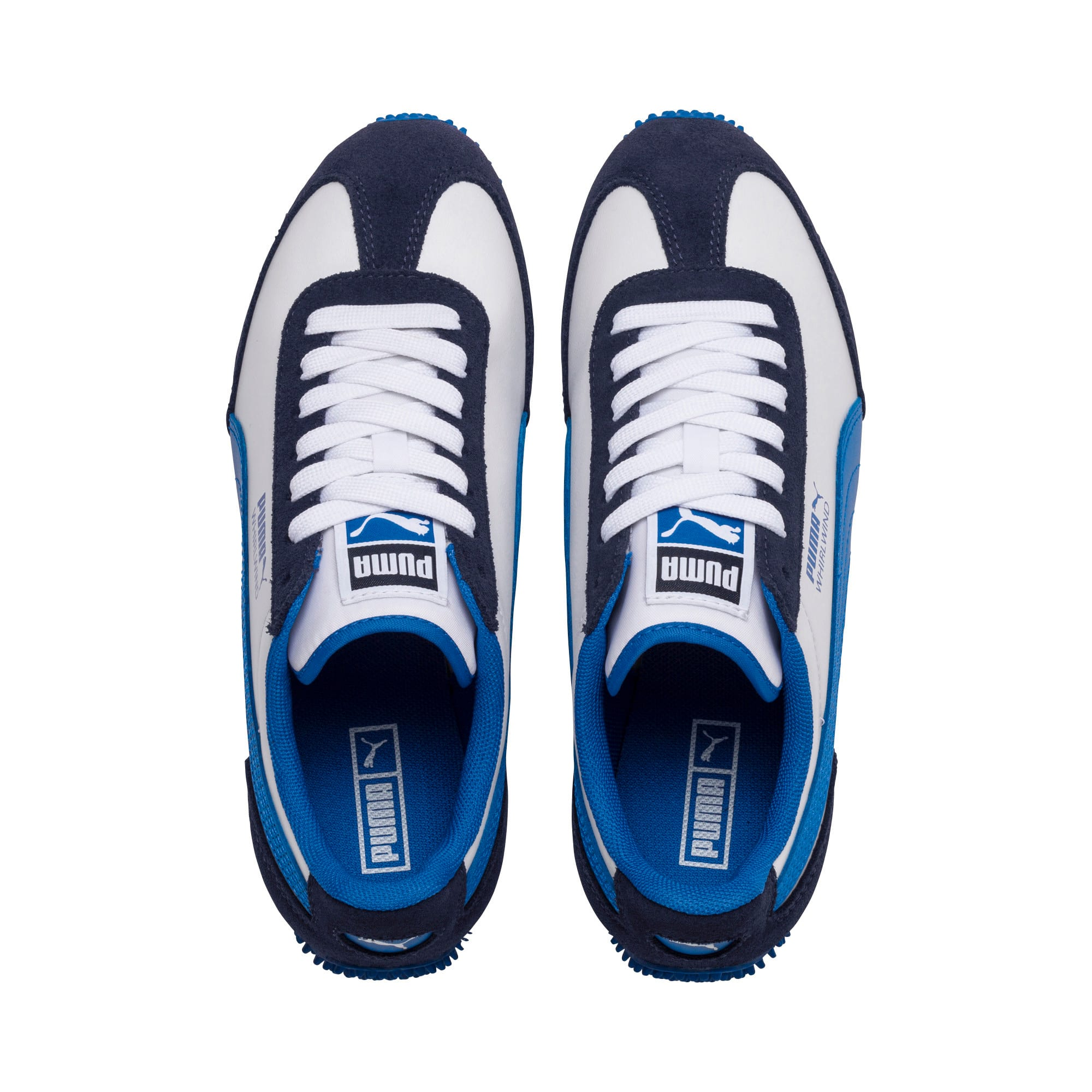 Thumbnail 6 of Kid's Whirlwind Trainers, White-Peacoat-Strong Blue, medium-IND