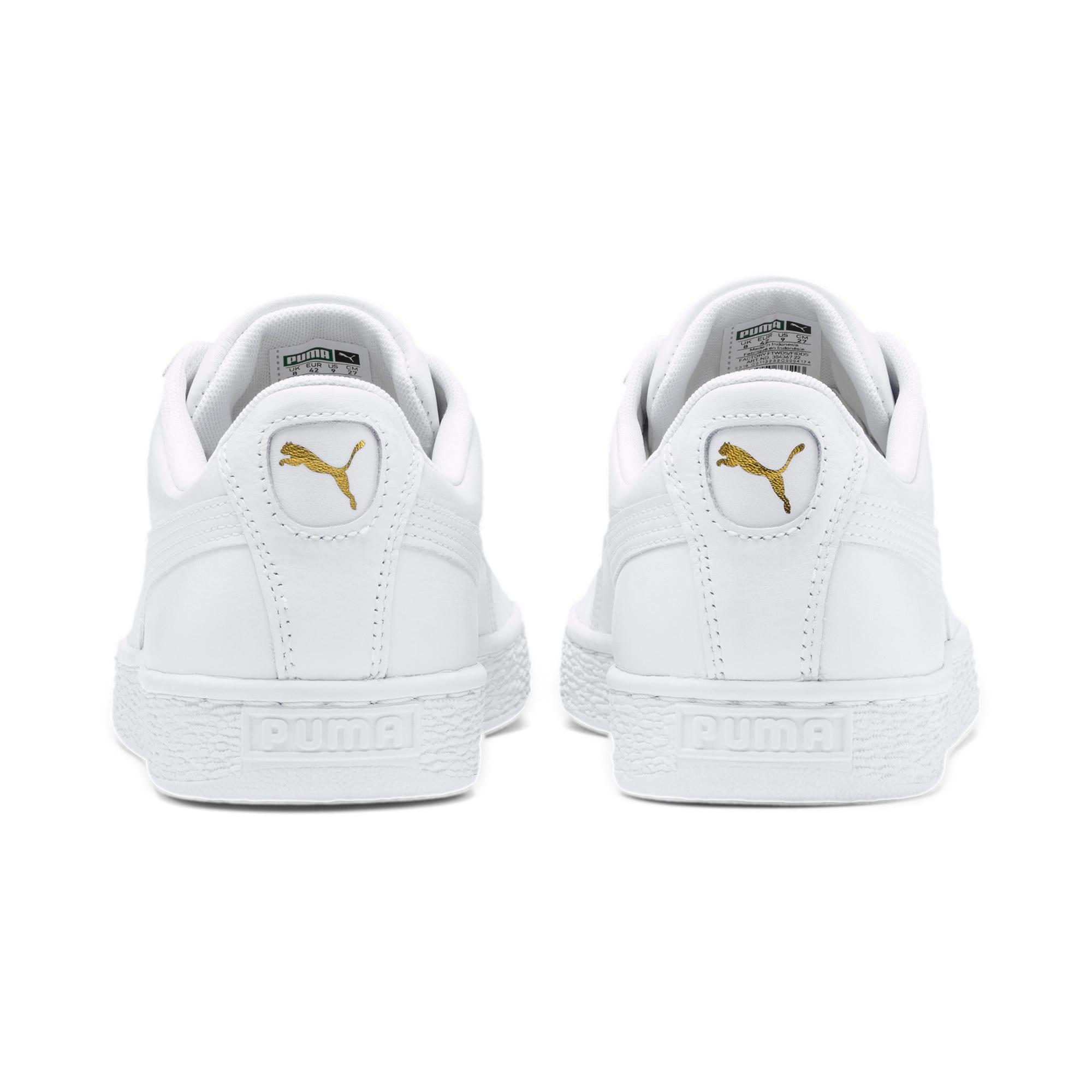 Thumbnail 3 of Heritage Basket Classic Sneakers, white-white, medium