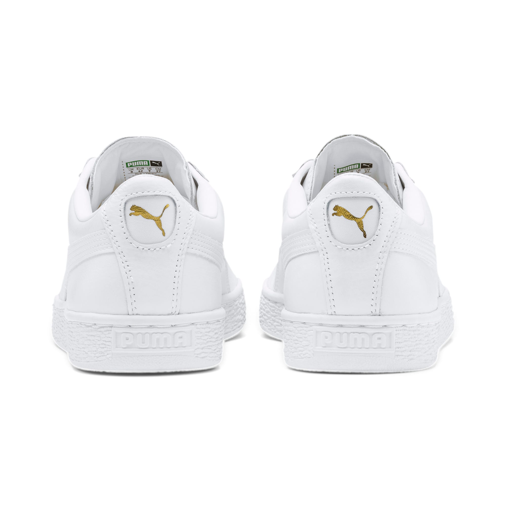 Thumbnail 8 of Heritage Basket Classic Sneakers, white-white, medium