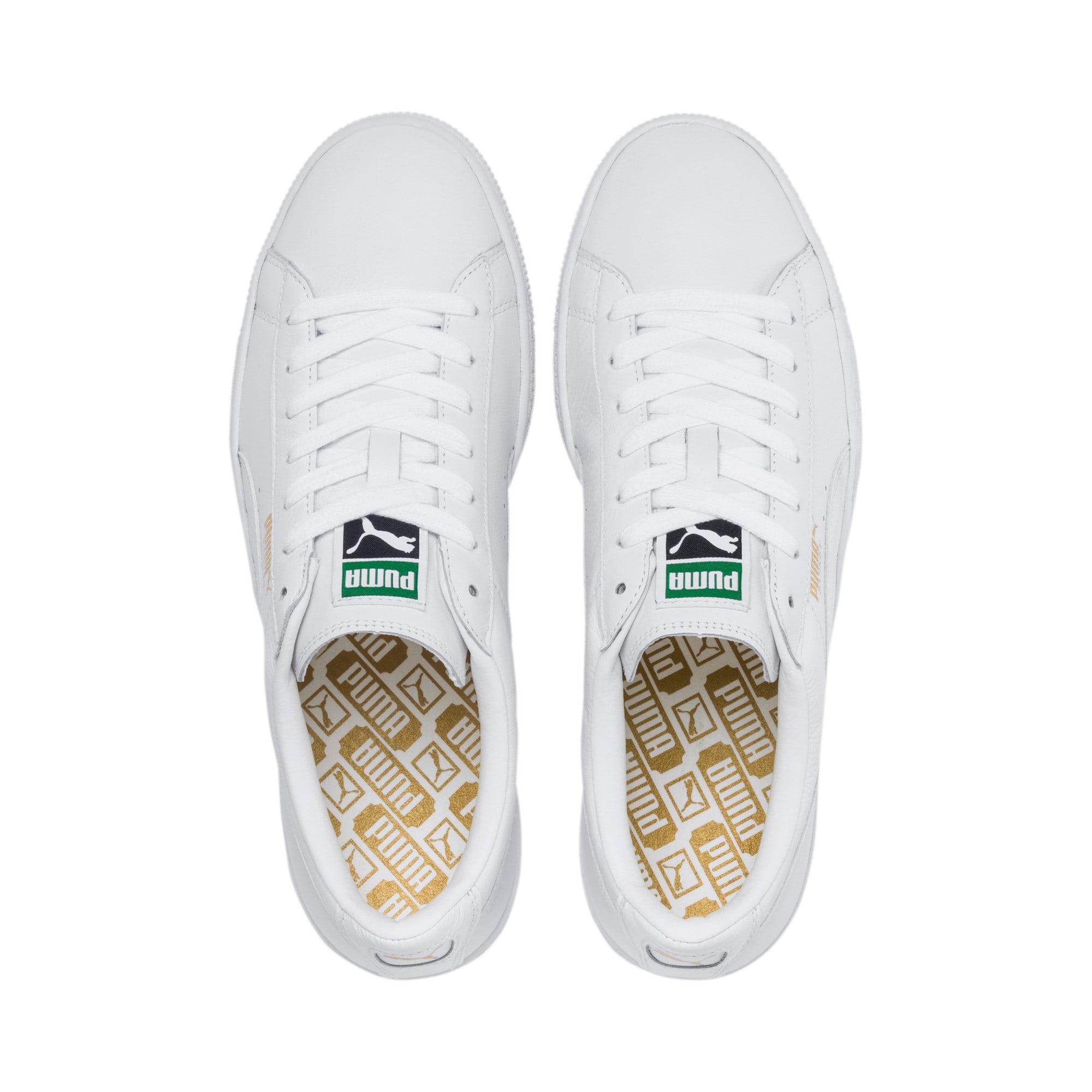 Thumbnail 9 of Heritage Basket Classic Sneakers, white-white, medium