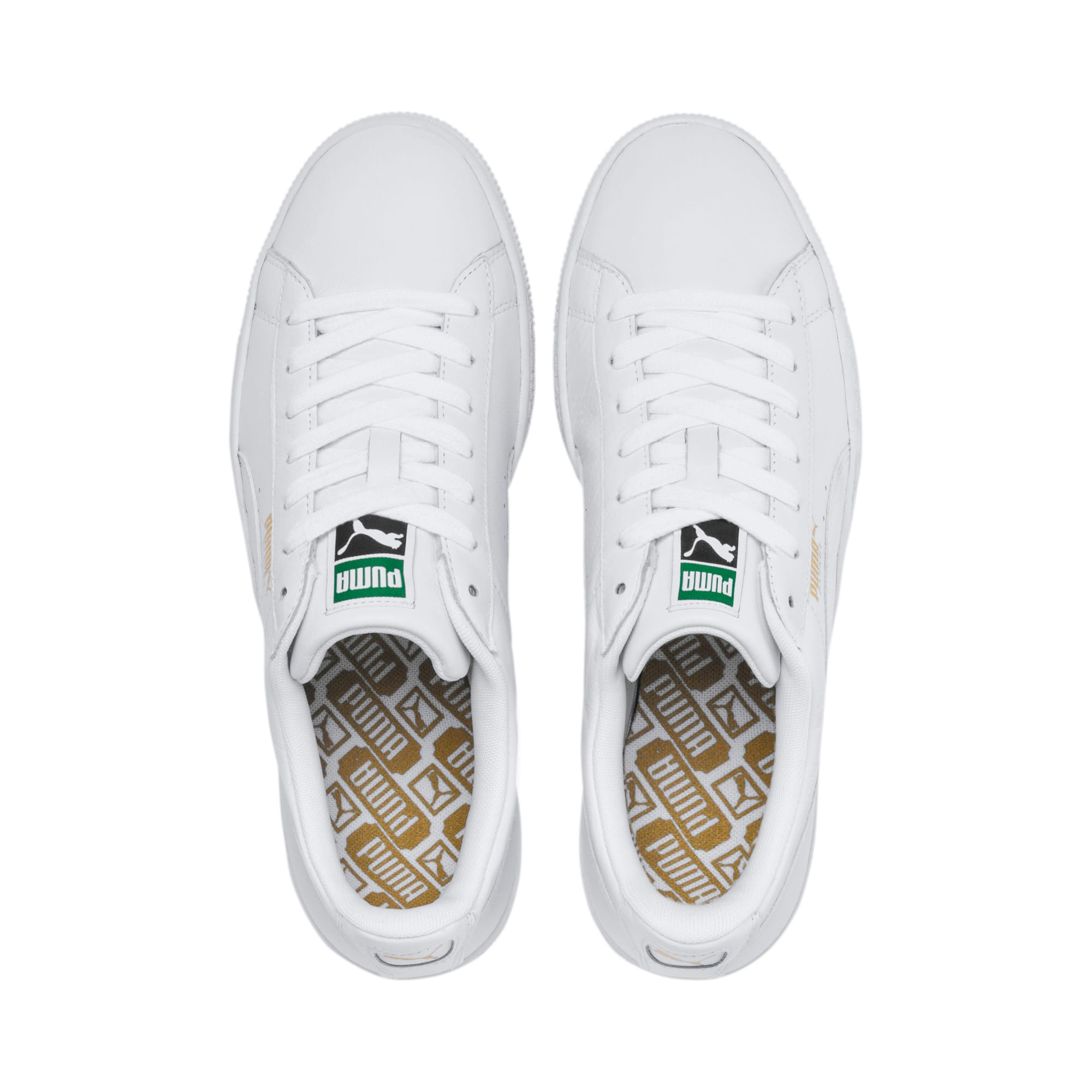 Thumbnail 6 of Heritage Basket Classic Sneakers, white-white, medium