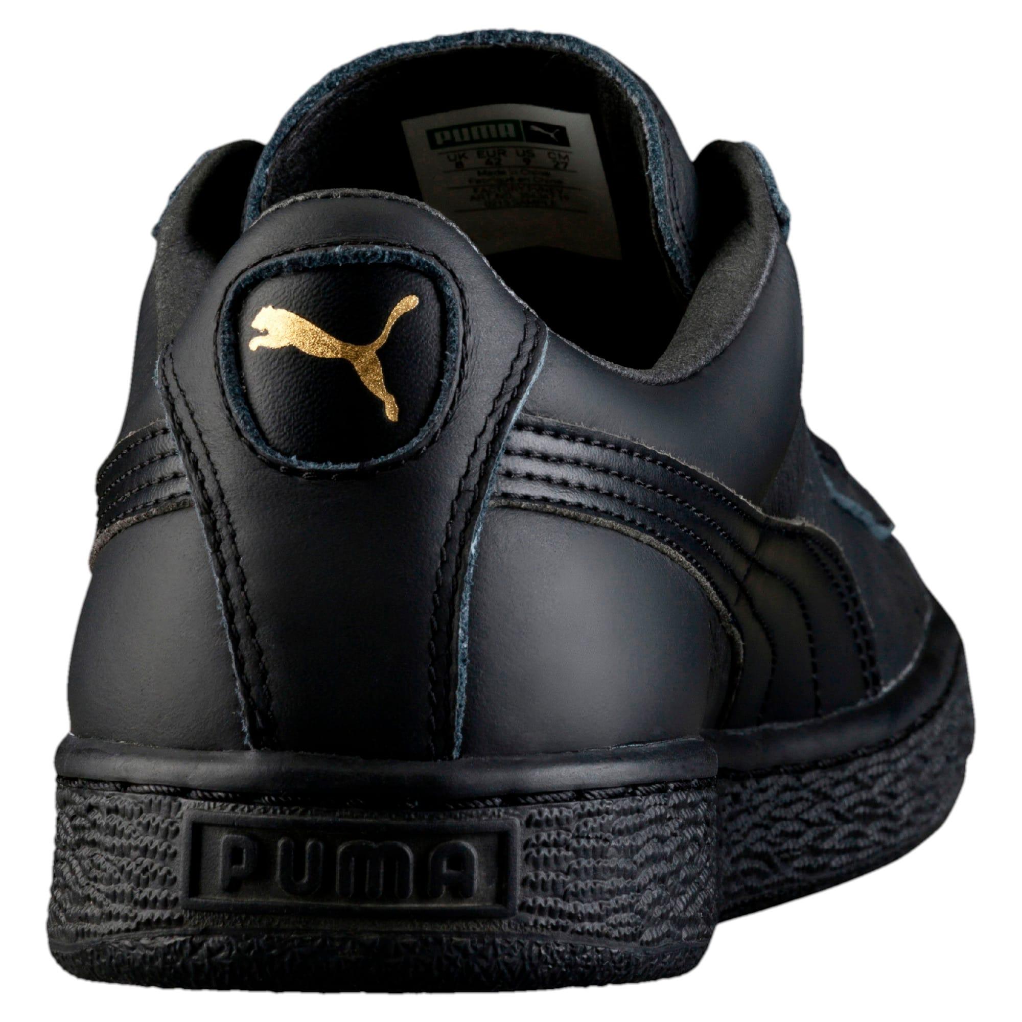 Thumbnail 3 of Basket Classic LFS Men's Shoes, black-team gold, medium-IND