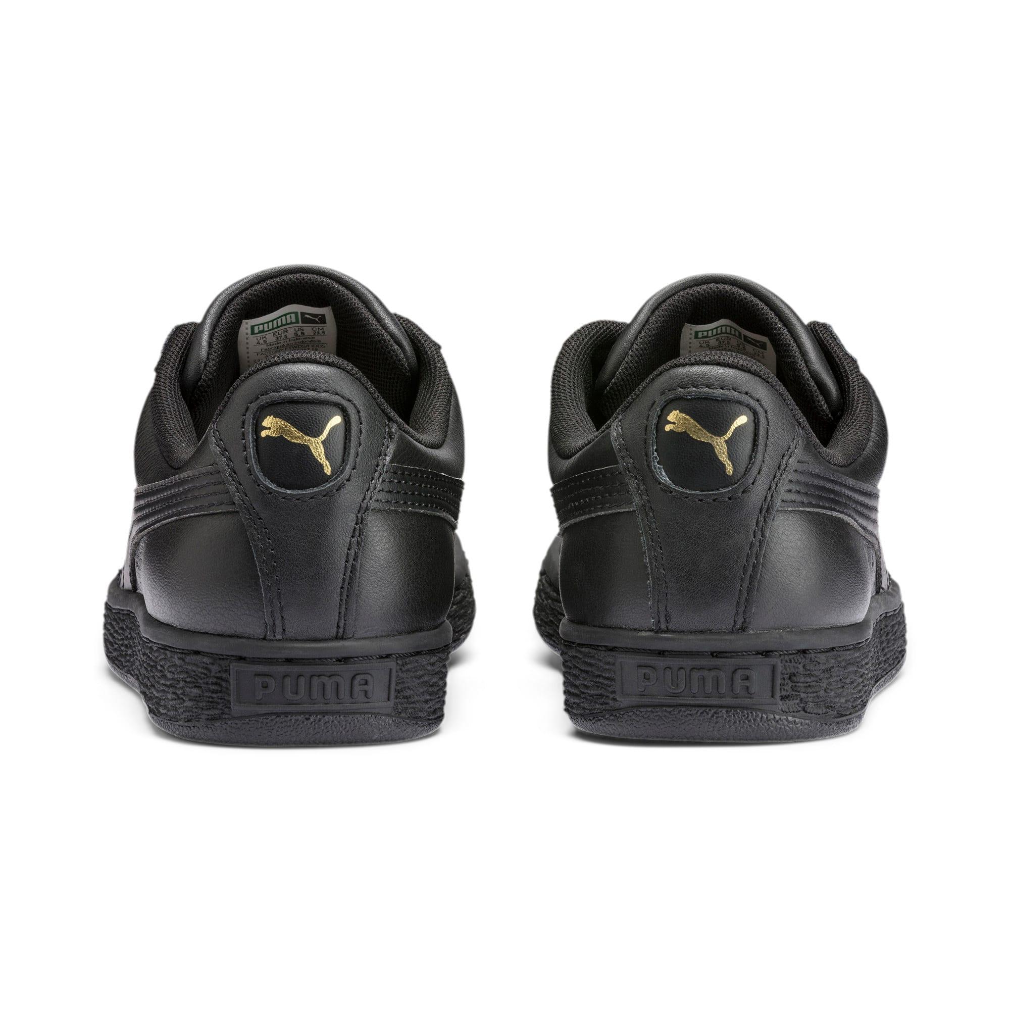 Thumbnail 3 of Heritage Basket Classic Sneakers, black-team gold, medium