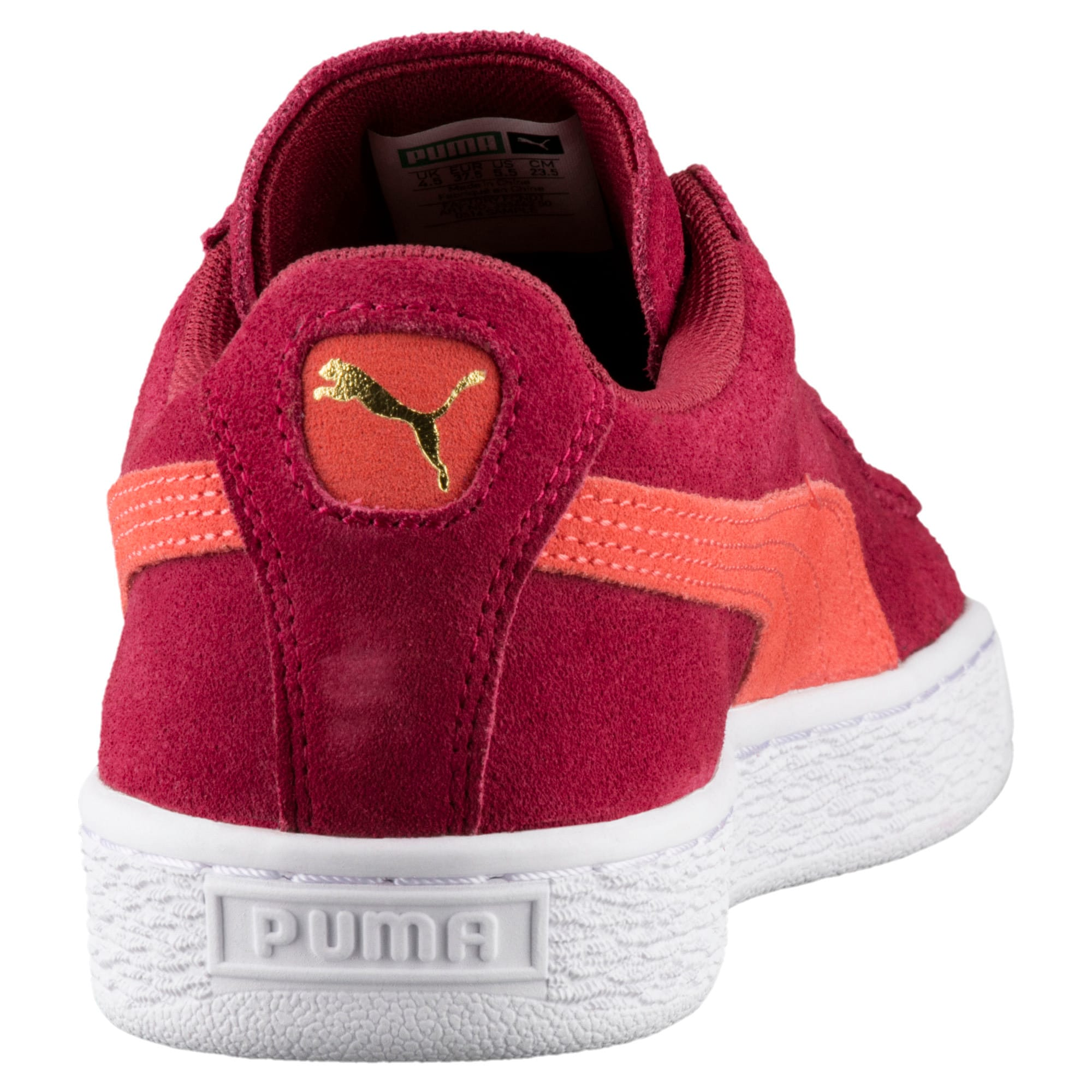 Thumbnail 4 of Suede Classic Women's Sneakers, Tibetan Red-Hot Coral, medium