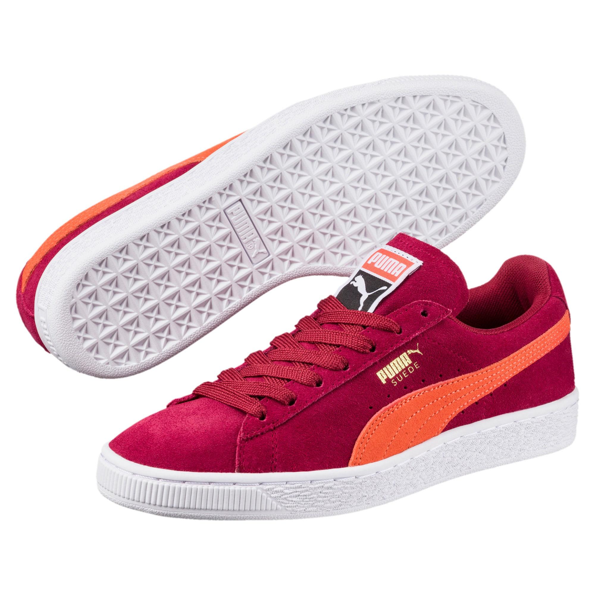 Thumbnail 2 of Suede Classic Women's Sneakers, Tibetan Red-Hot Coral, medium