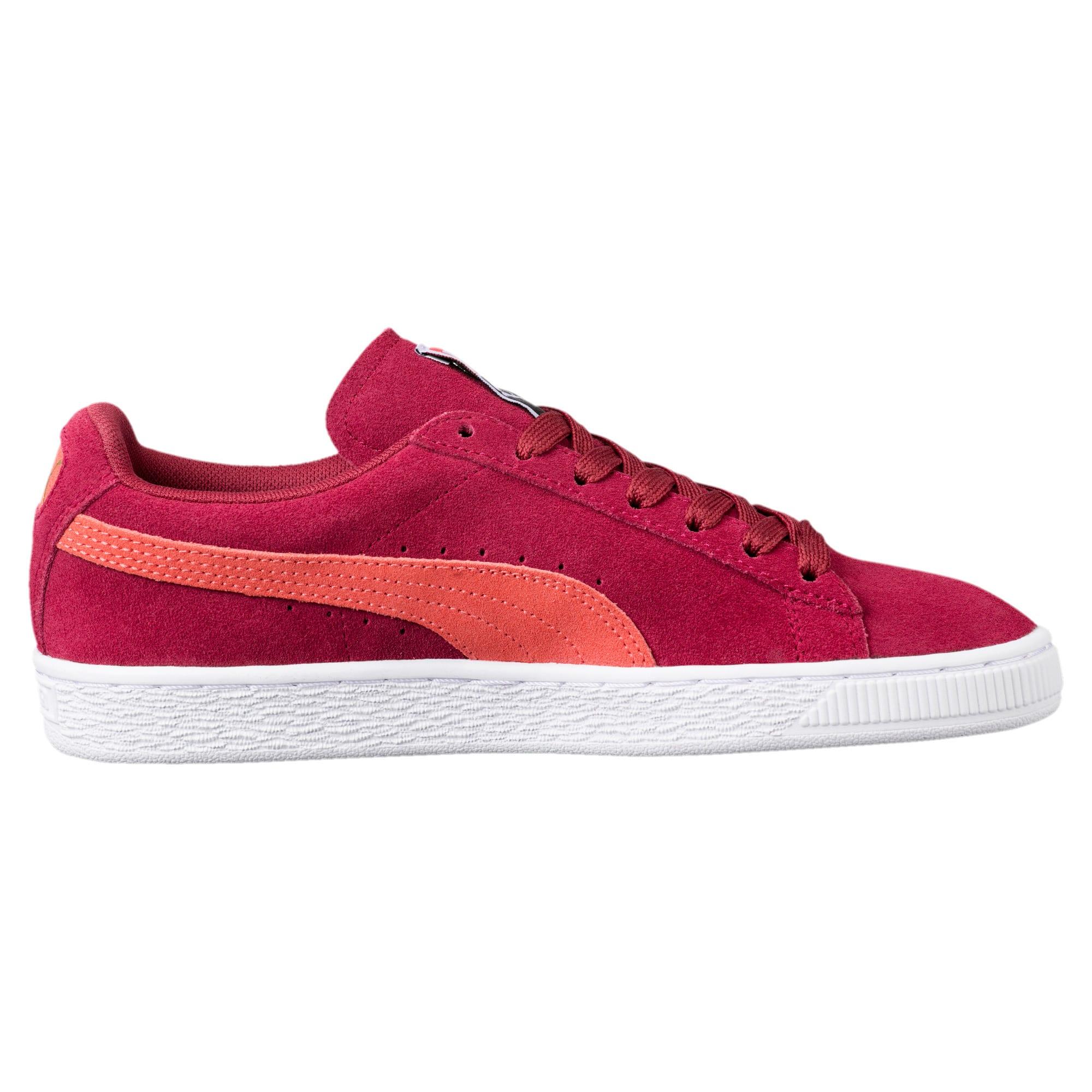 Thumbnail 3 of Suede Classic Women's Sneakers, Tibetan Red-Hot Coral, medium