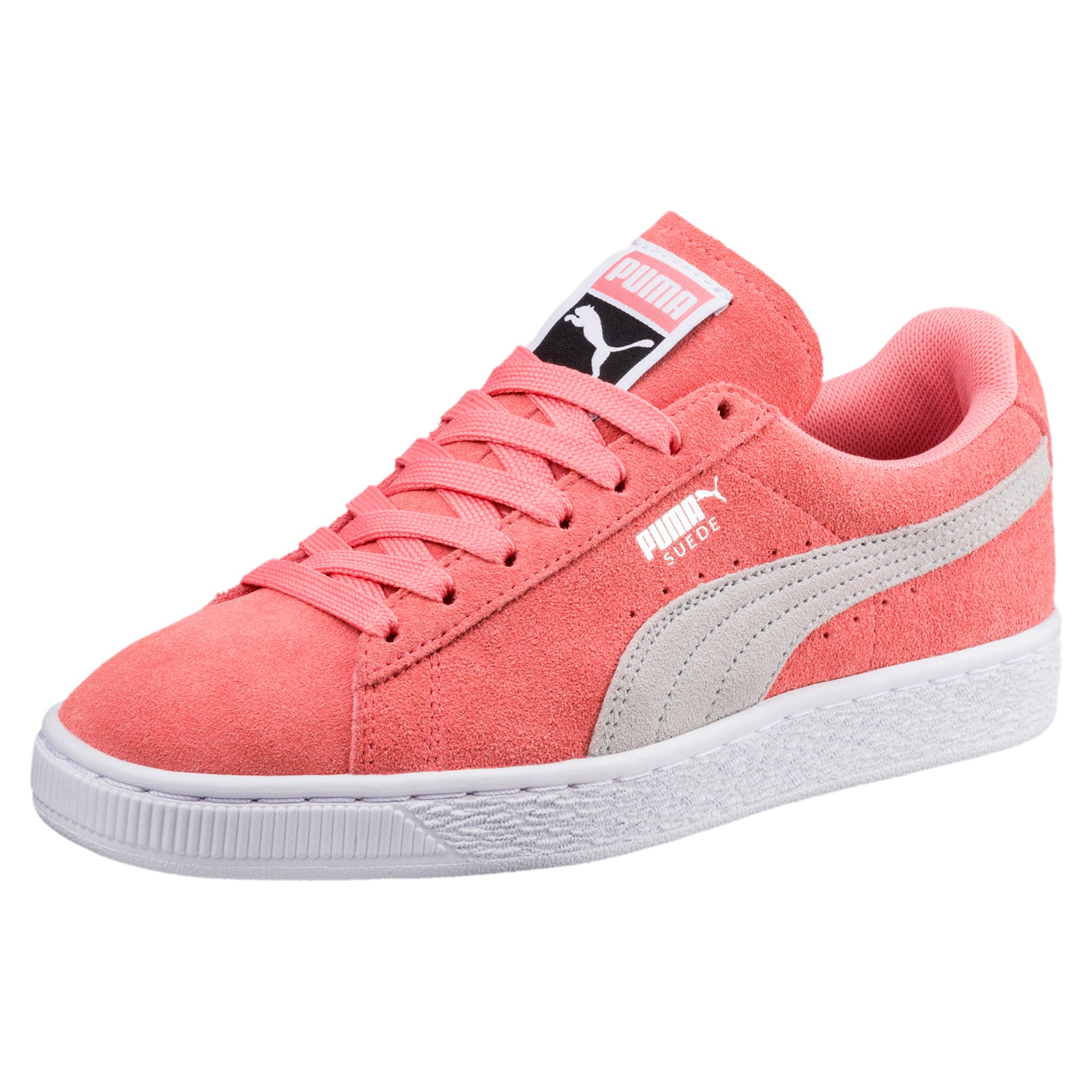 Thumbnail 1 of Suede Classic Women's Sneakers, Shell Pink-Glacier Gray, medium