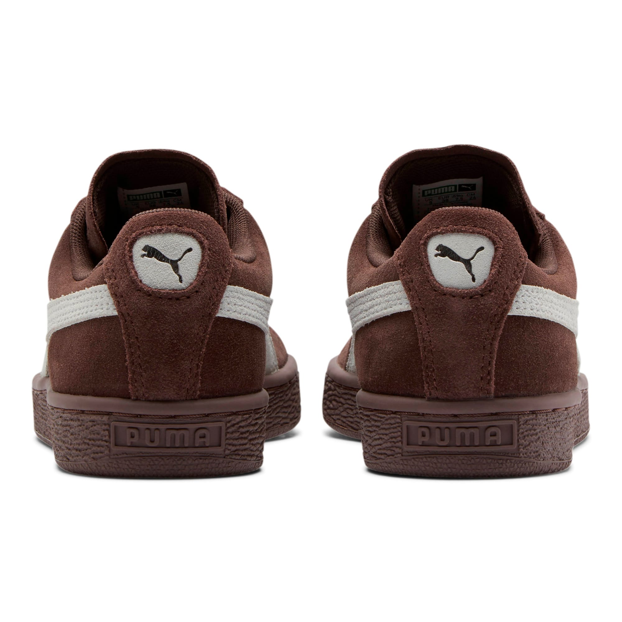 Thumbnail 4 of Suede Classic Women's Sneakers, Peppercorn-Puma White, medium