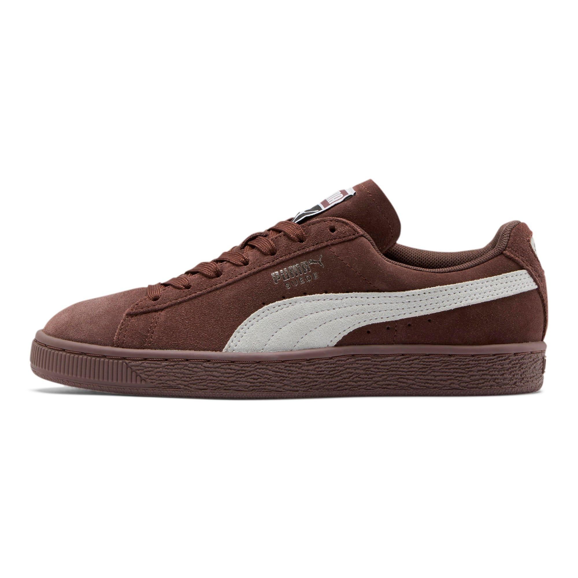 Thumbnail 1 of Suede Classic Women's Sneakers, Peppercorn-Puma White, medium