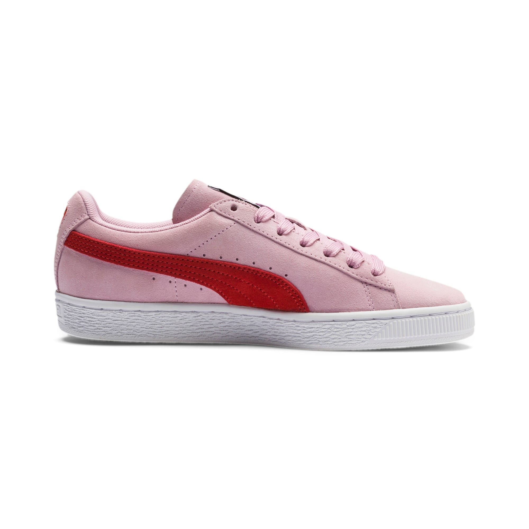 Thumbnail 5 of Suede Classic Women's Sneakers, Pale Pink-Hibiscus, medium