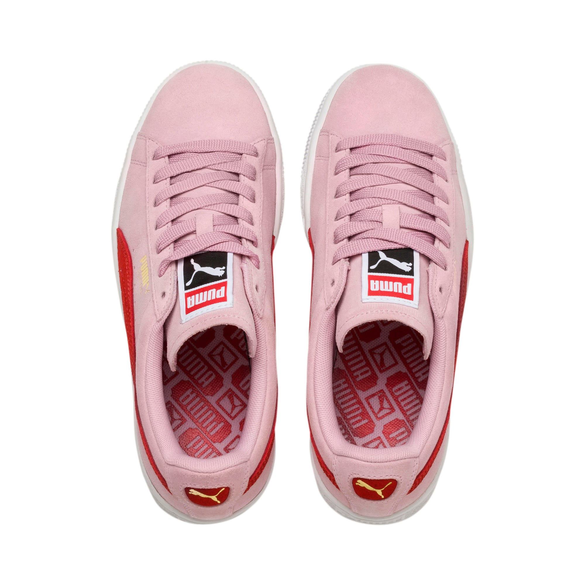 Thumbnail 6 of Suede Classic Women's Sneakers, Pale Pink-Hibiscus, medium
