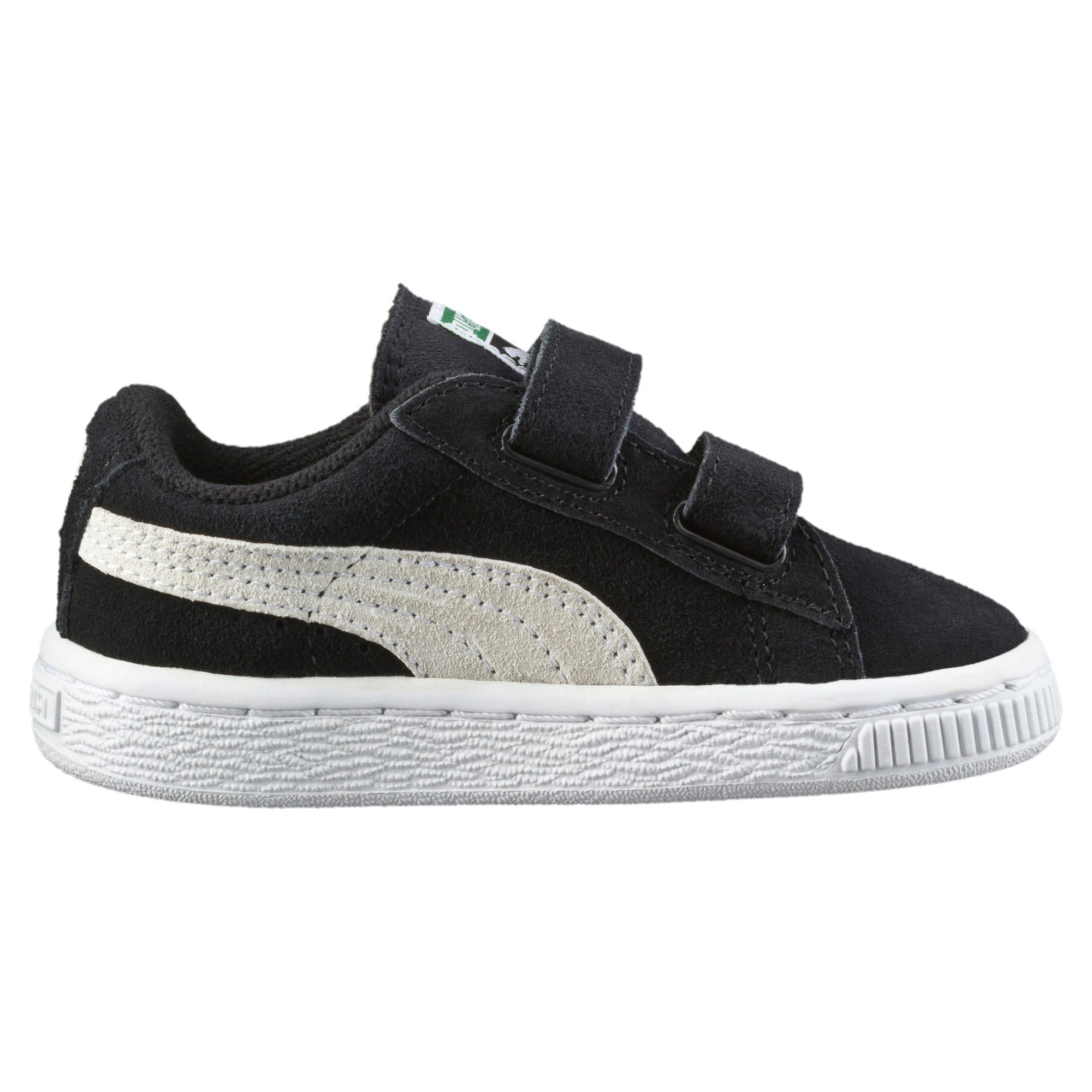 Thumbnail 4 of Suede Two-strap Babies' Trainers, black-white, medium