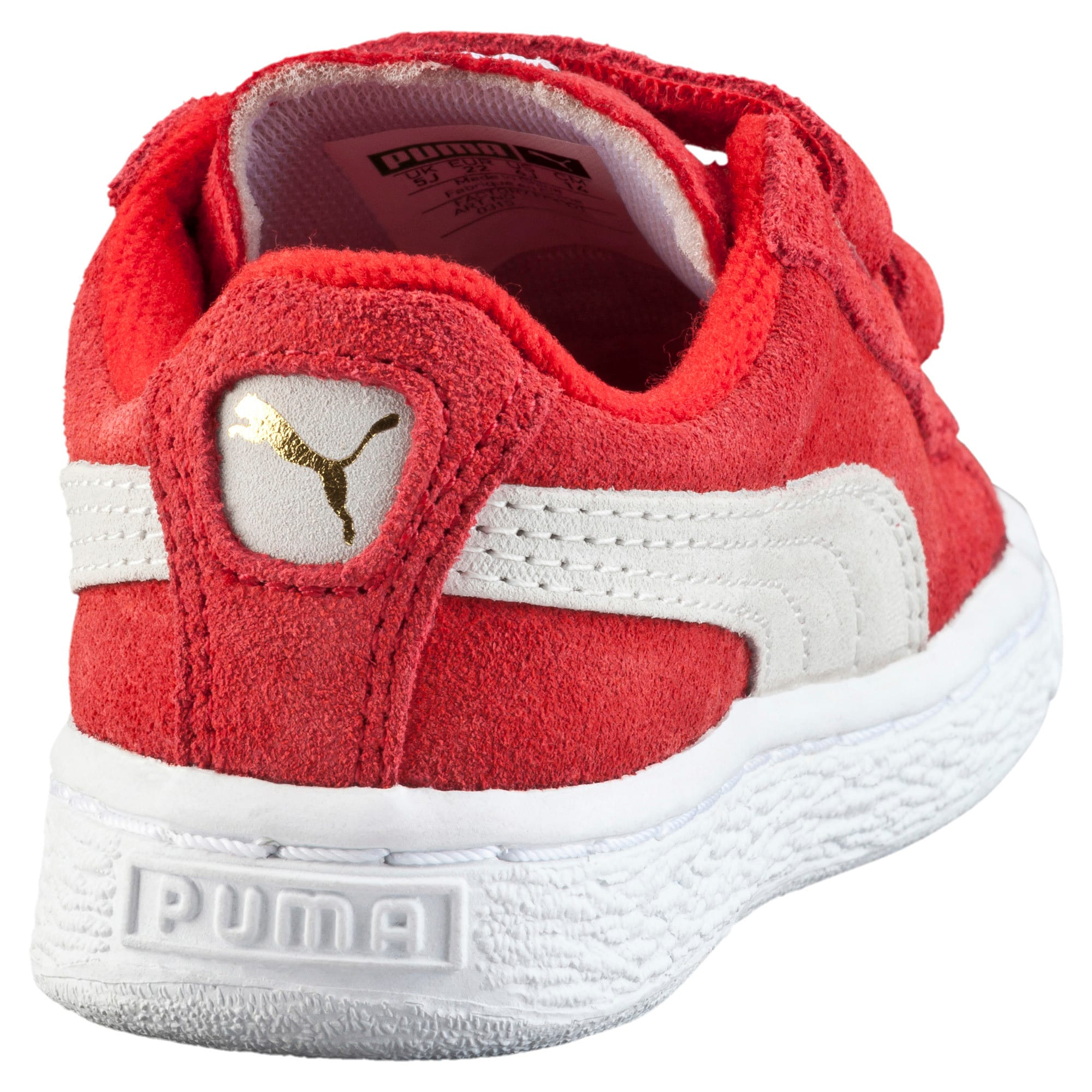 Thumbnail 3 of Suede Baby Sneaker, high risk red-white, medium