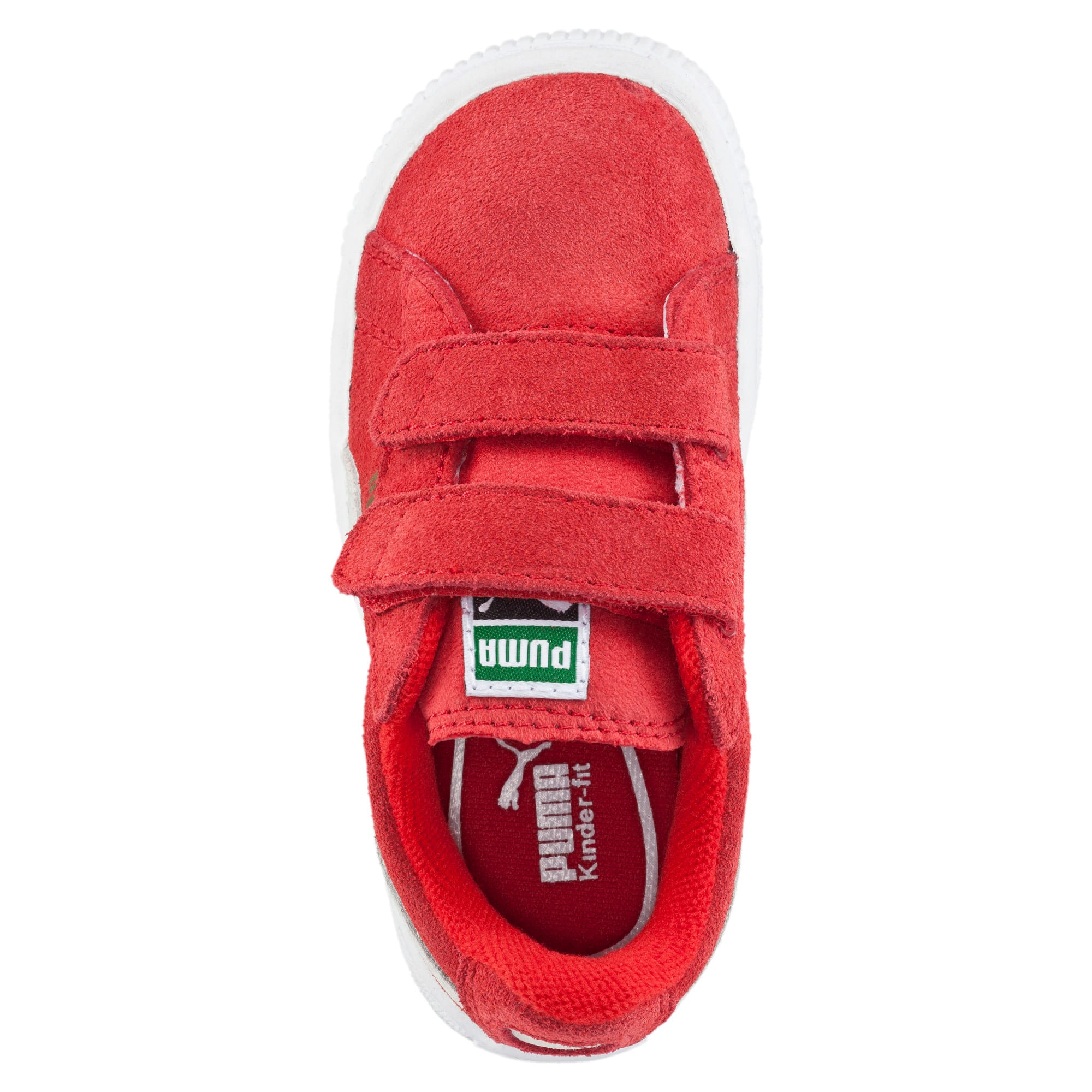 Thumbnail 5 of Suede Baby Sneaker, high risk red-white, medium
