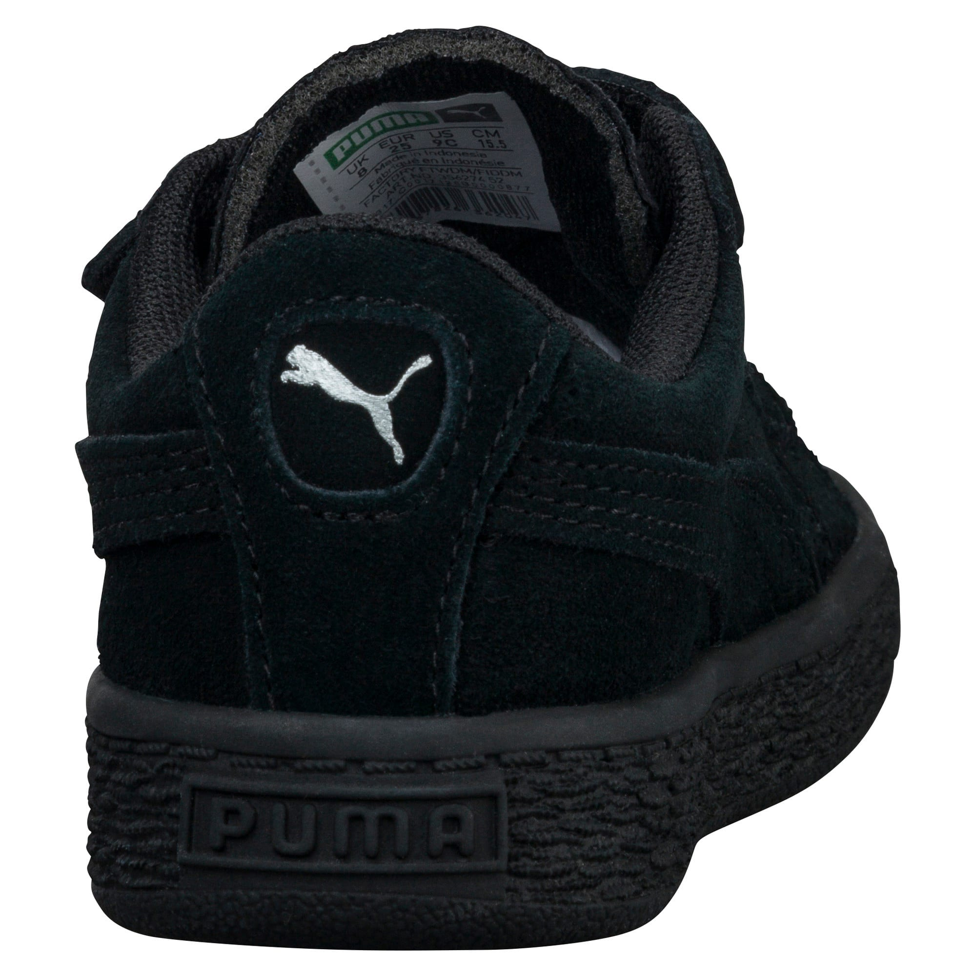 Thumbnail 4 of Suede Two-strap Babies' Trainers, Puma Black-Puma Silver, medium
